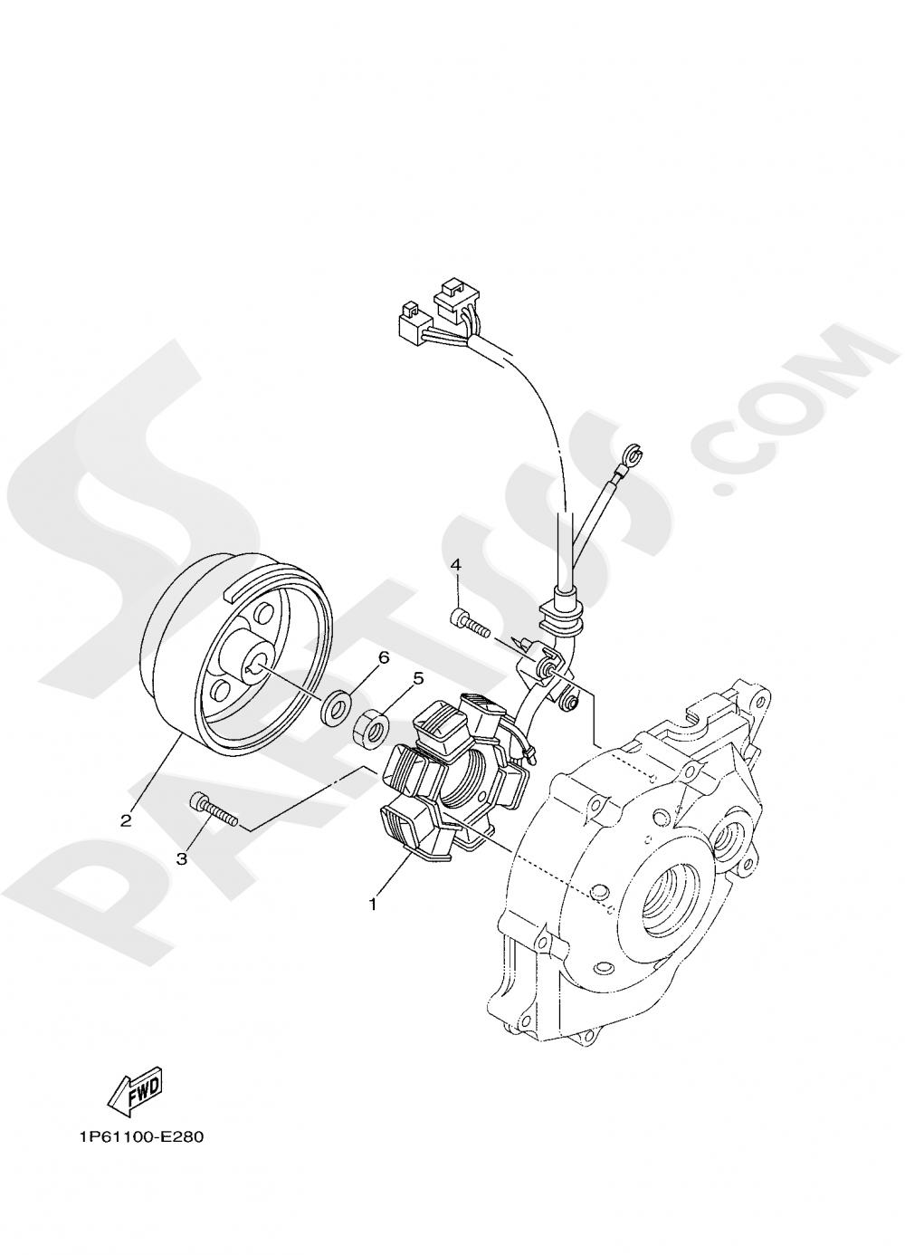 GENERATOR Yamaha TT-R50E 2019