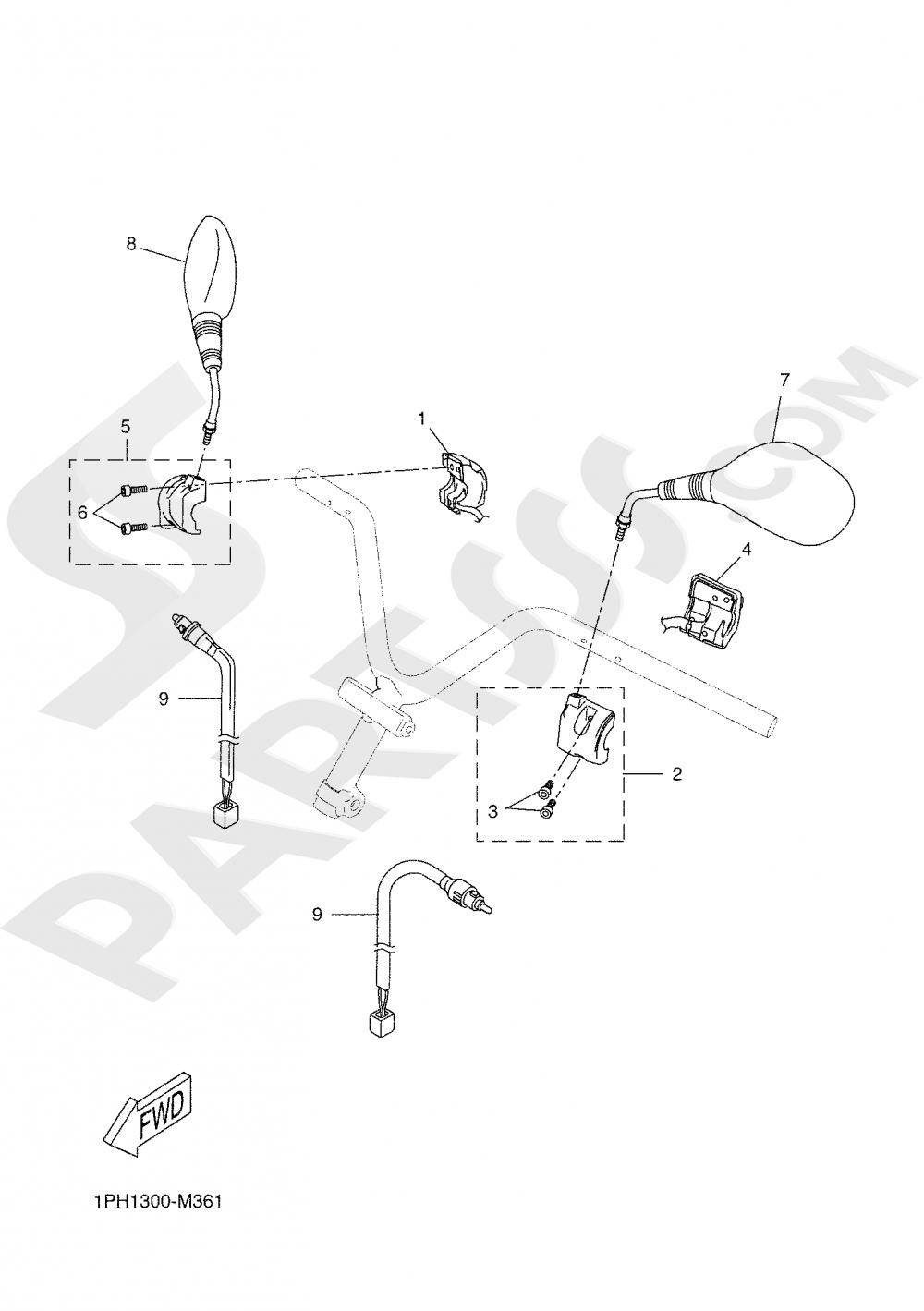 HANDLE SWITCH & LEVER Yamaha NS50F 2020