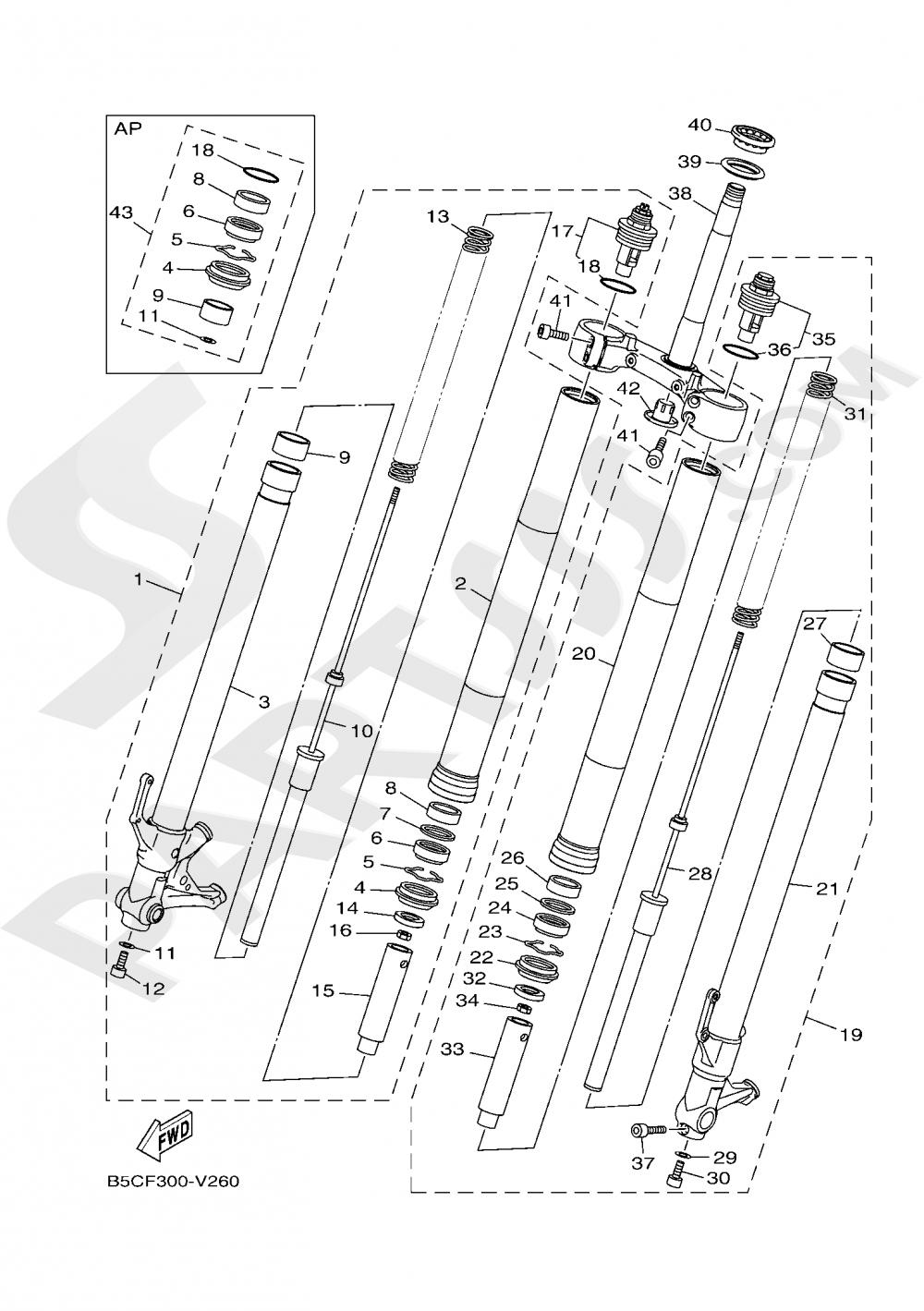 FRONT FORK Yamaha TRACER 900 2020