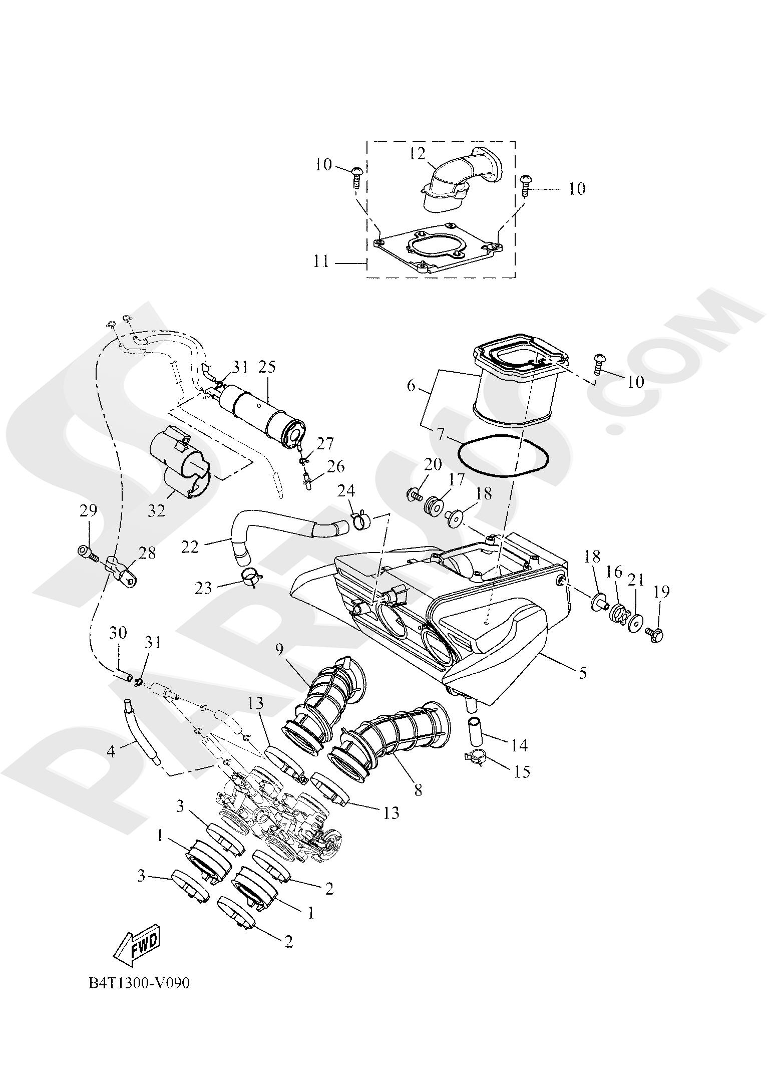 Yamaha TRACER 700 2020 INTAKE