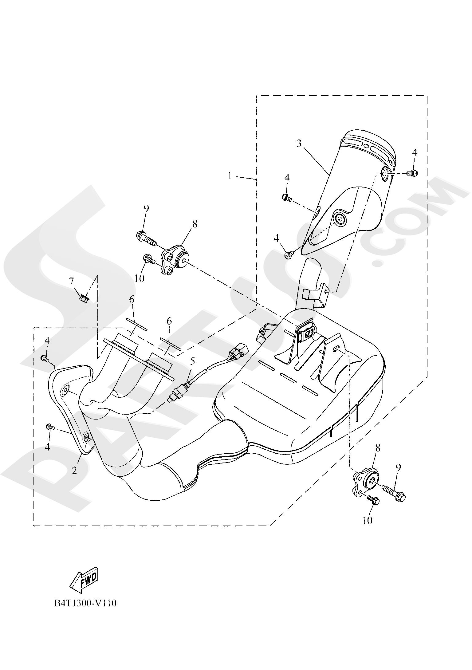 Yamaha TRACER 700 2020 EXHAUST