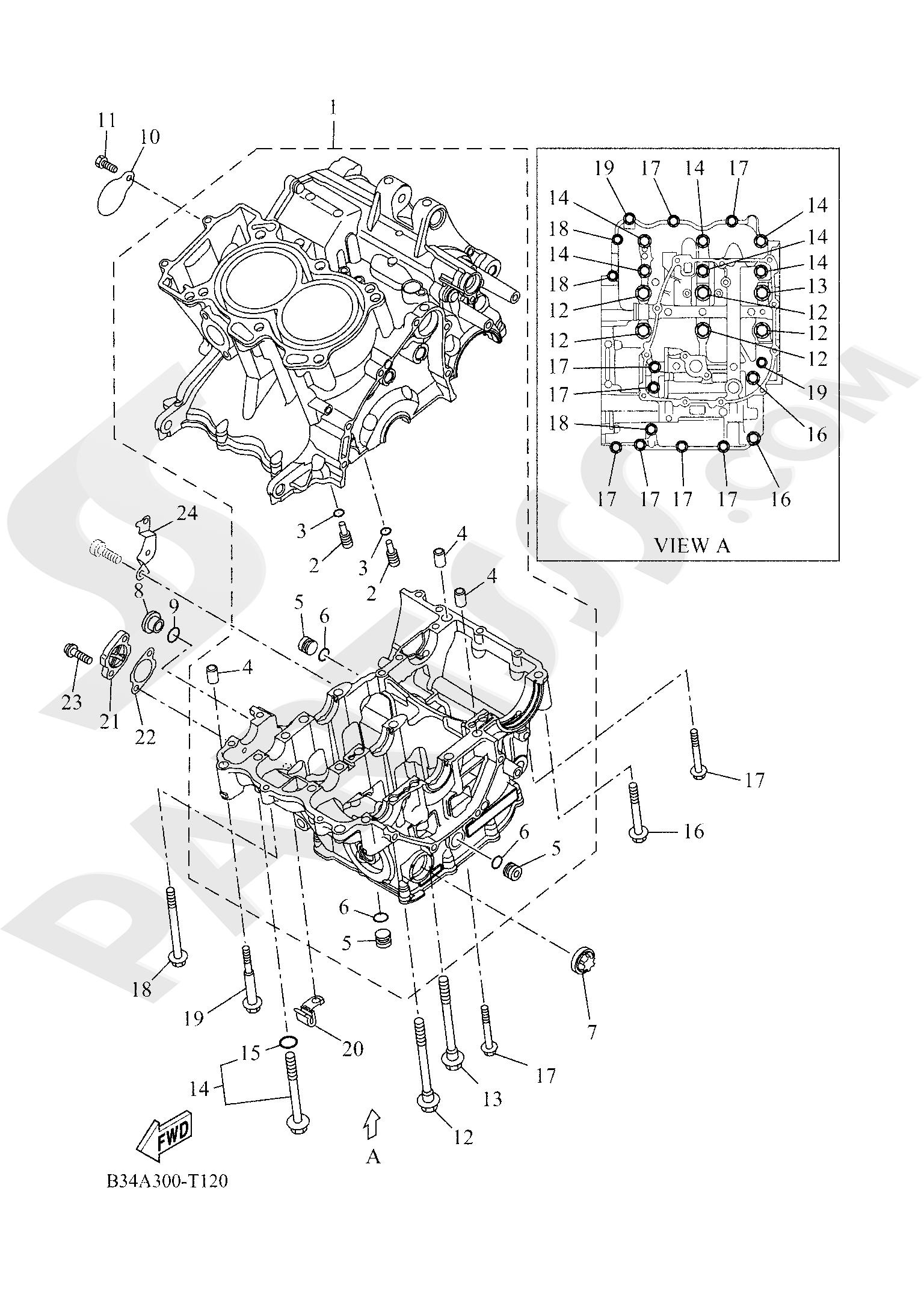 Yamaha TRACER 700 2020 CRANKCASE
