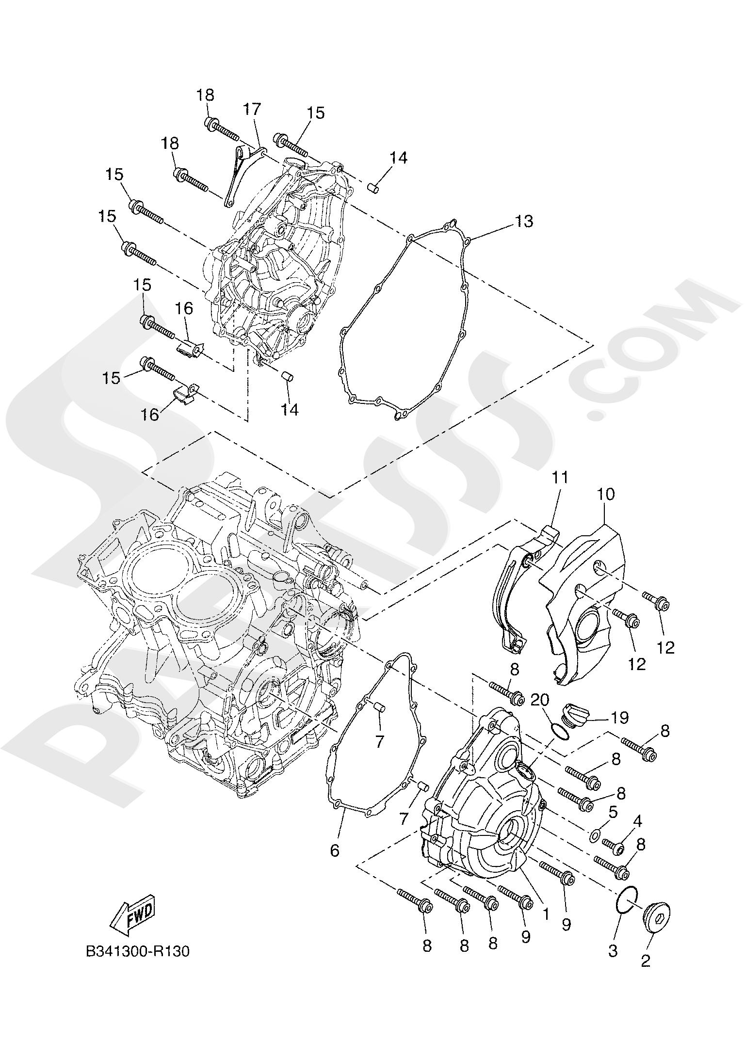 Yamaha TRACER 700 2020 CRANKCASE COVER 1