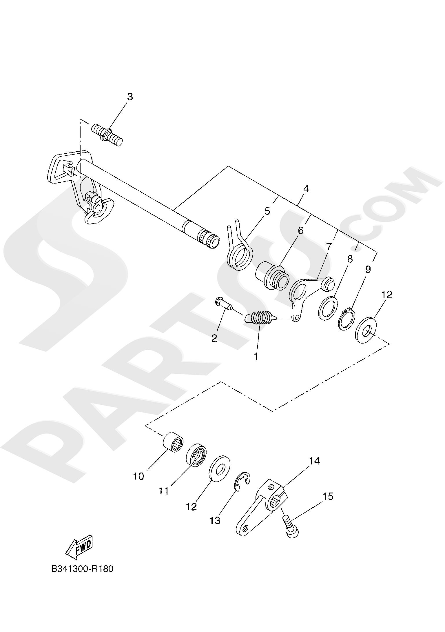 Yamaha TRACER 700 2020 SHIFT SHAFT