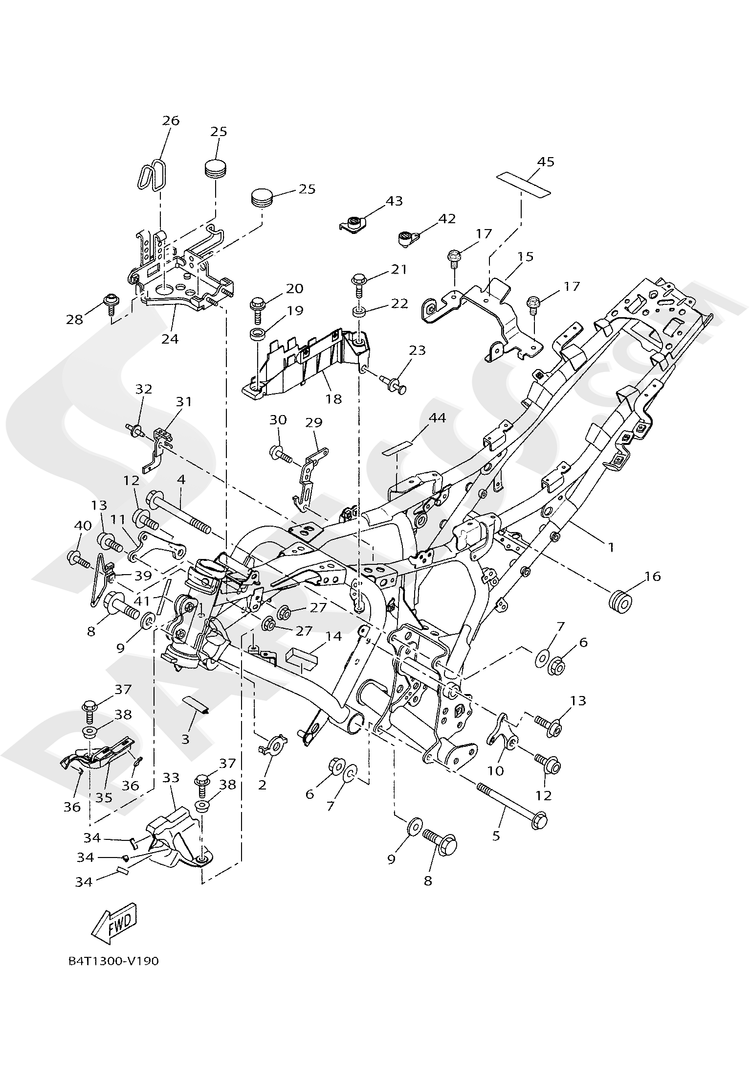 Yamaha TRACER 700 2020 FRAME