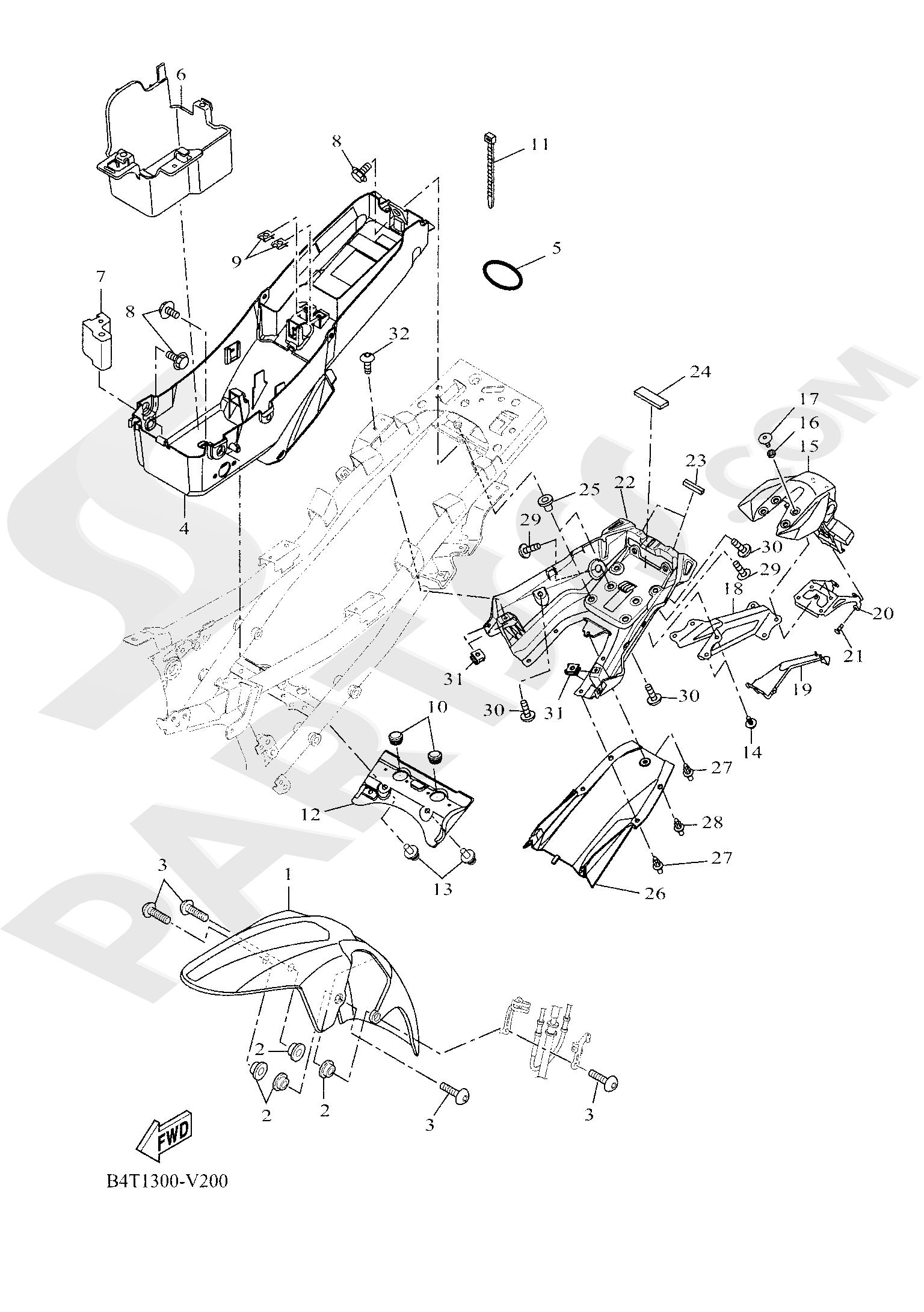 Yamaha TRACER 700 2020 FENDER