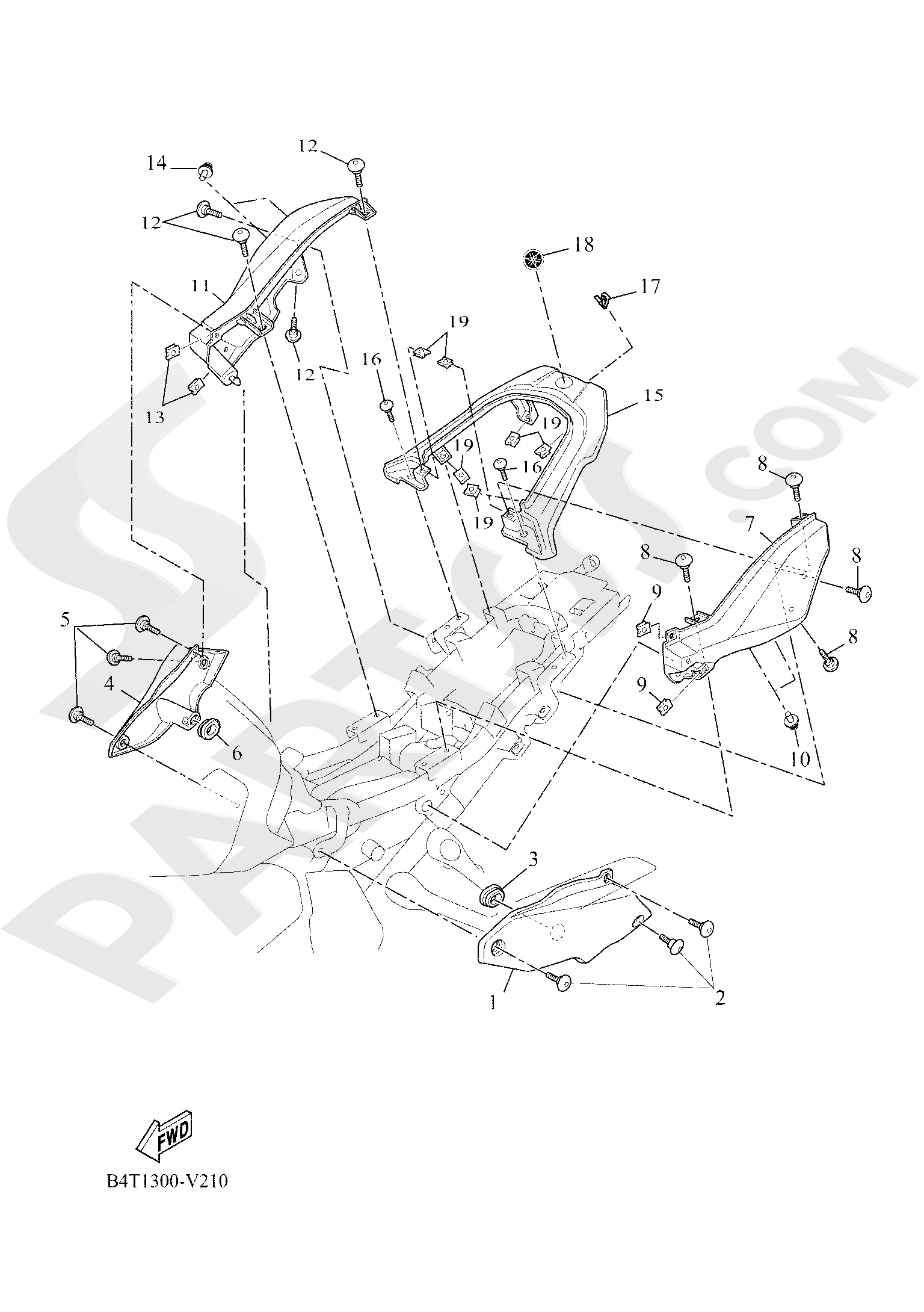 Yamaha TRACER 700 2020 SIDE COVER