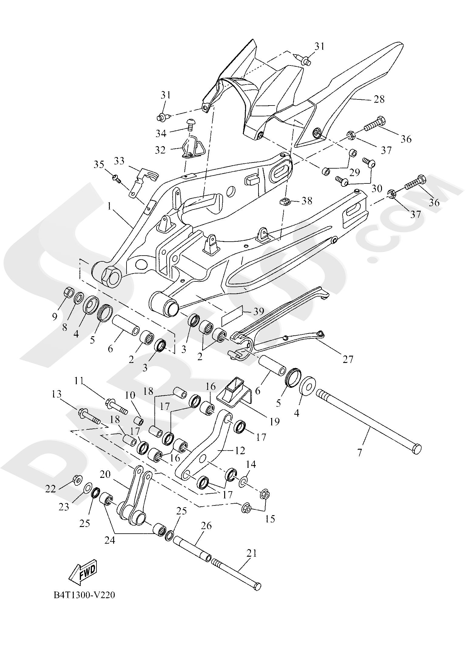 Yamaha TRACER 700 2020 REAR ARM