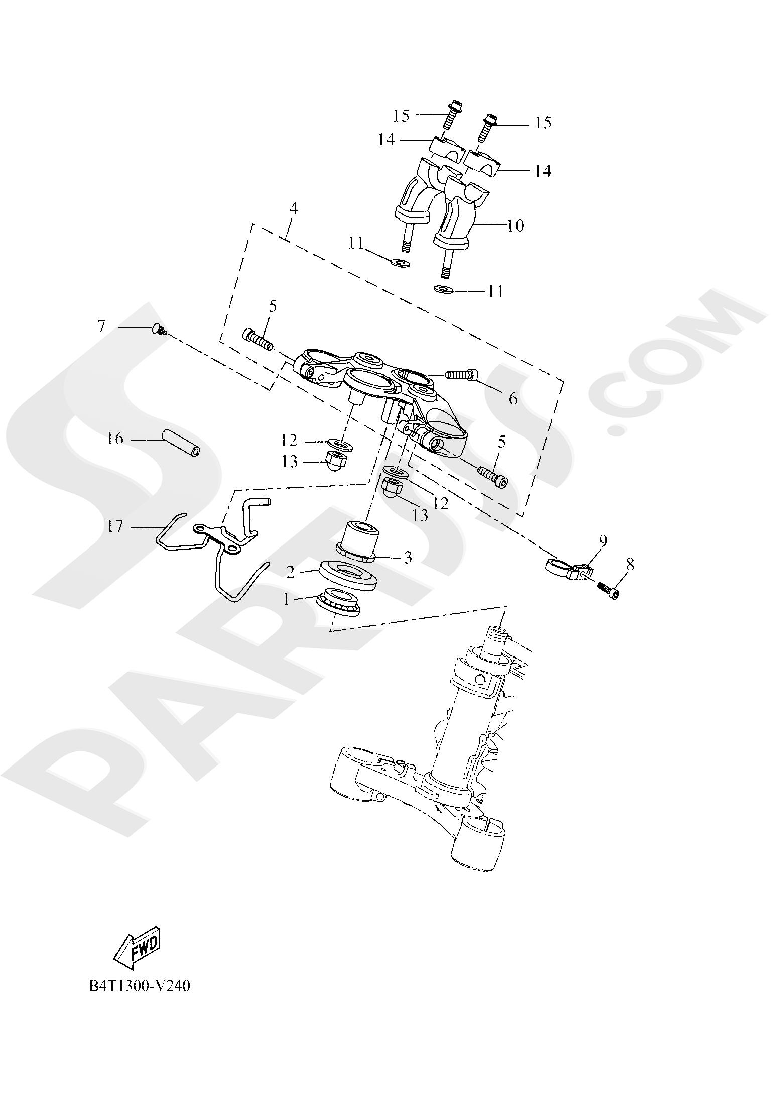 Yamaha TRACER 700 2020 STEERING