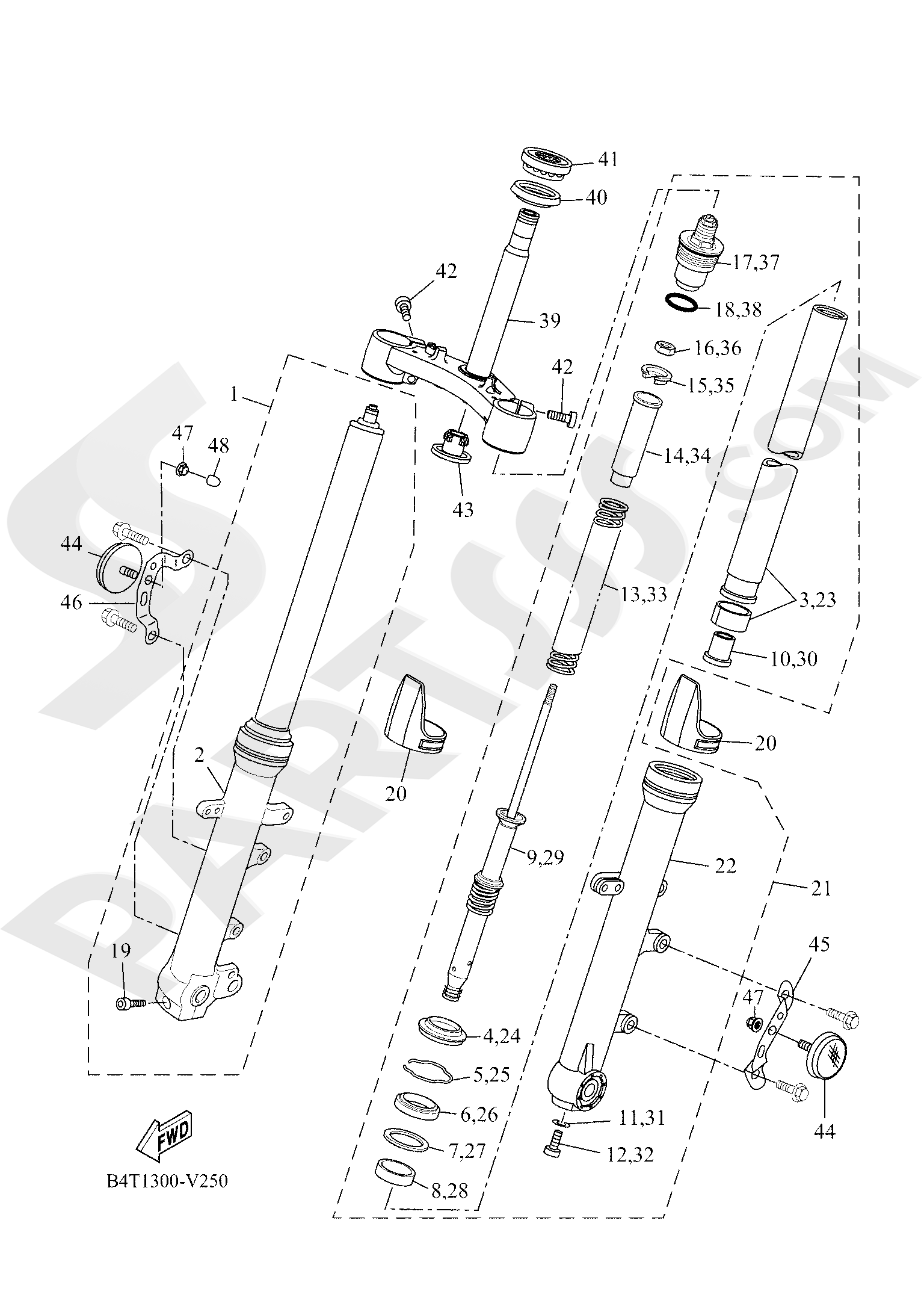Yamaha TRACER 700 2020 FRONT FORK