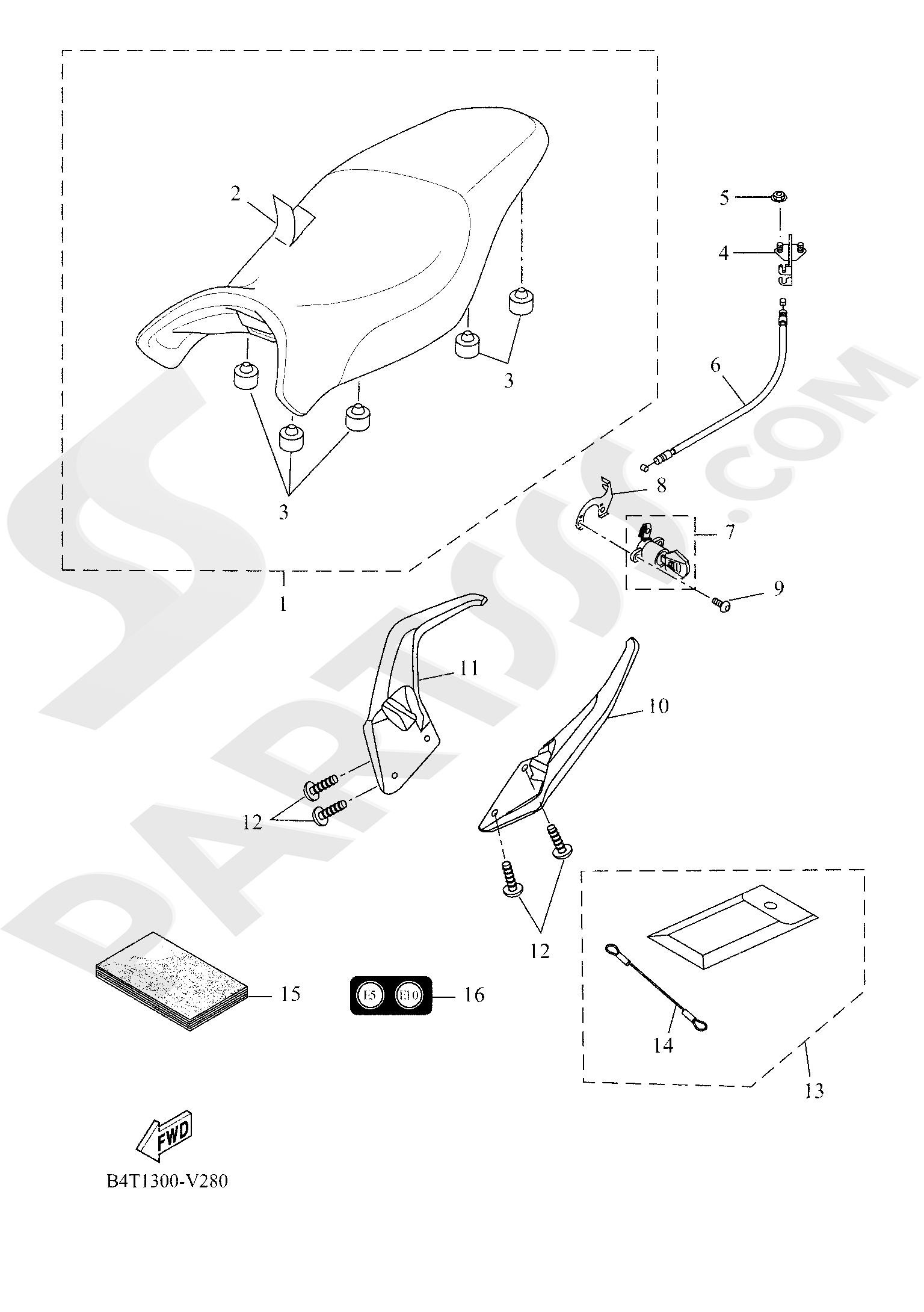 Yamaha TRACER 700 2020 SEAT
