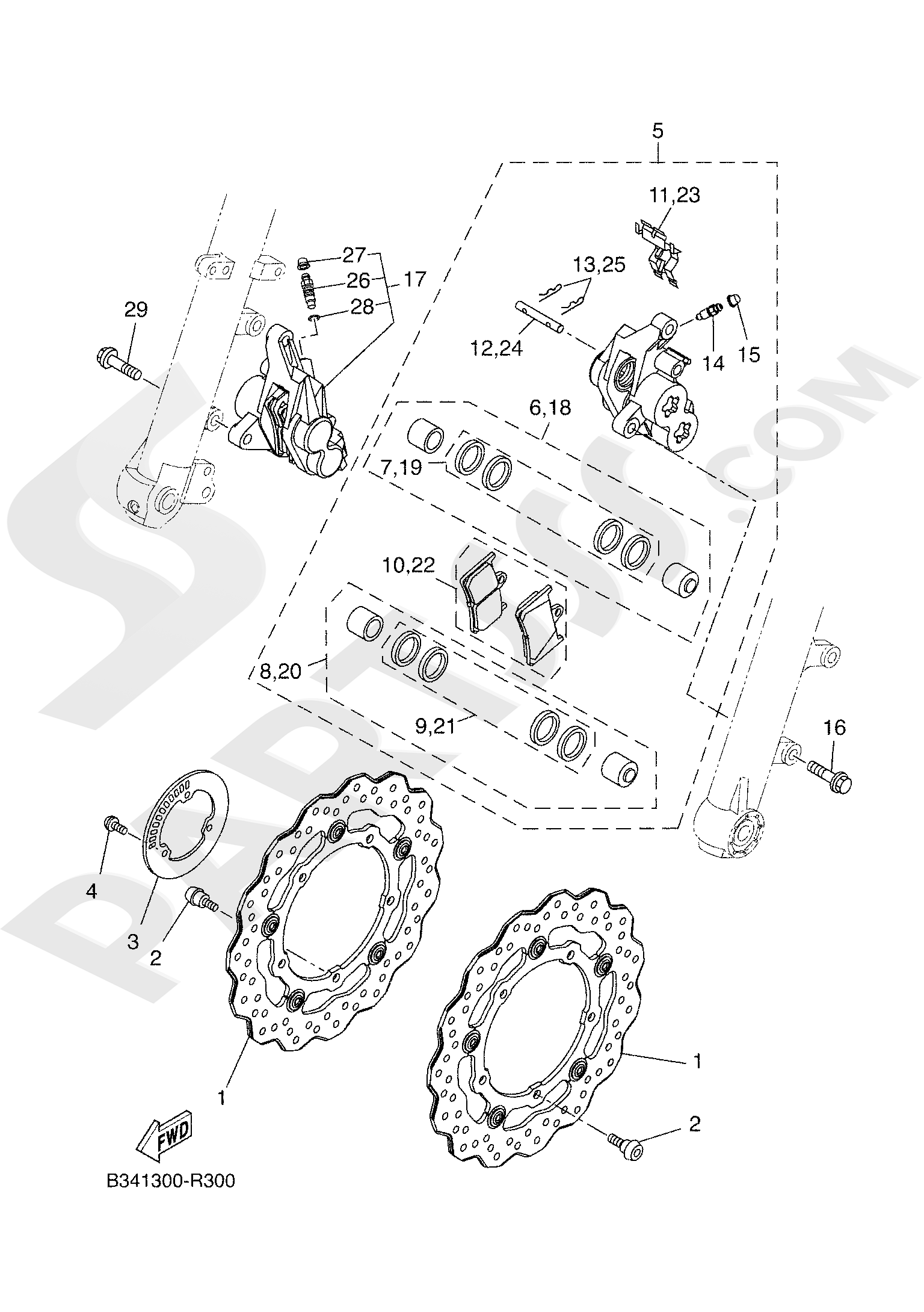 Yamaha TRACER 700 2020 FRONT BRAKE CALIPER