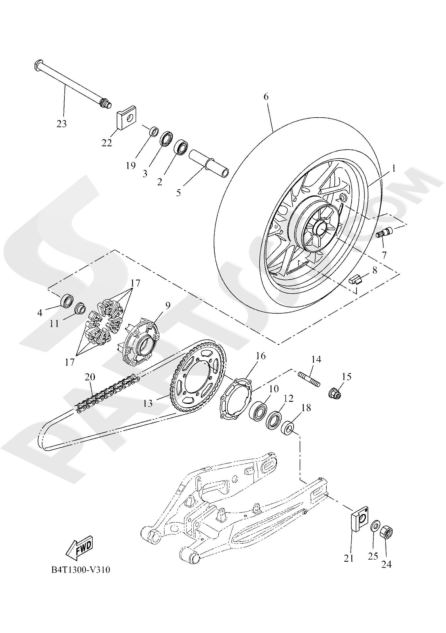 Yamaha TRACER 700 2020 REAR WHEEL