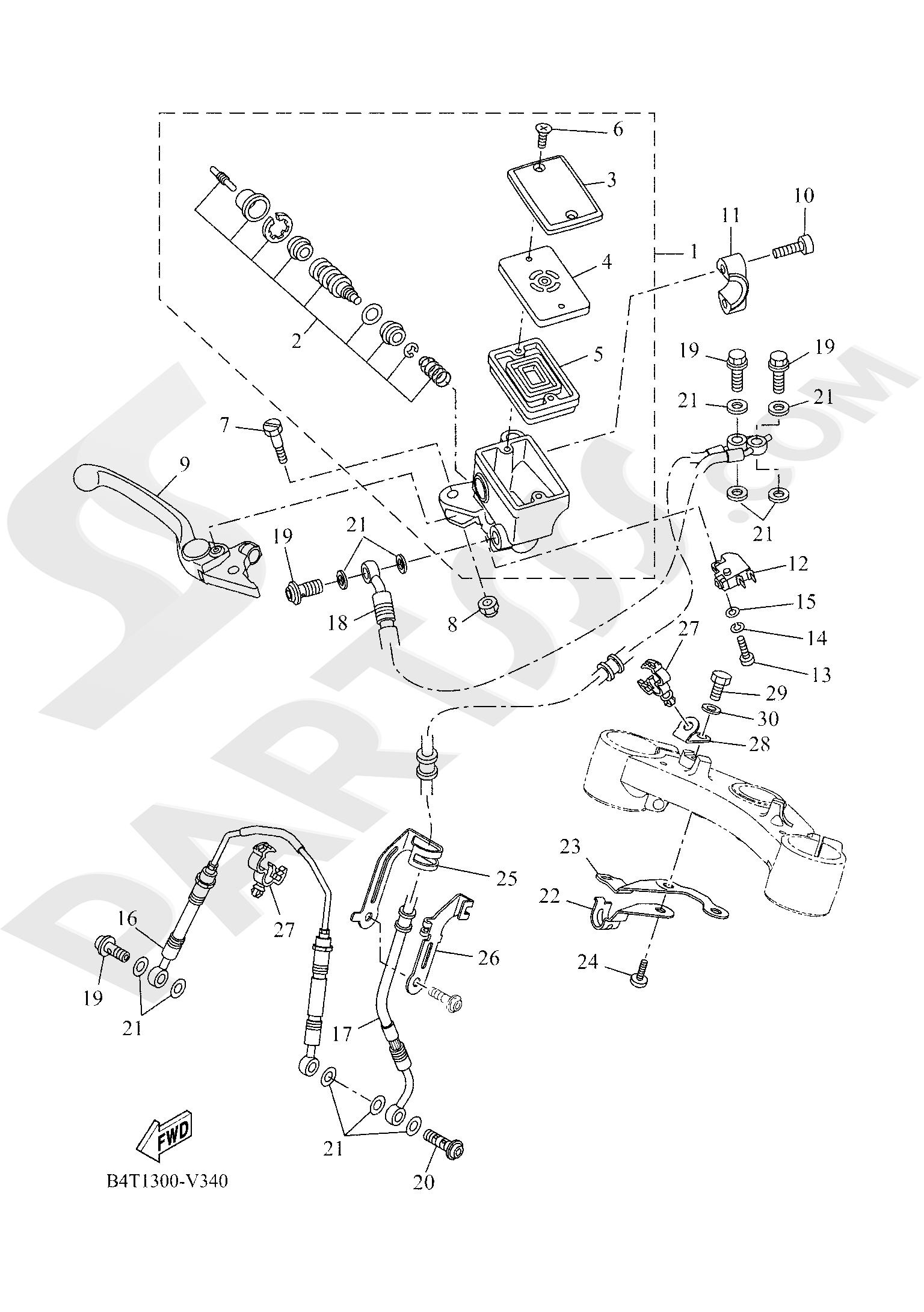 Yamaha TRACER 700 2020 FRONT MASTER CYLINDER
