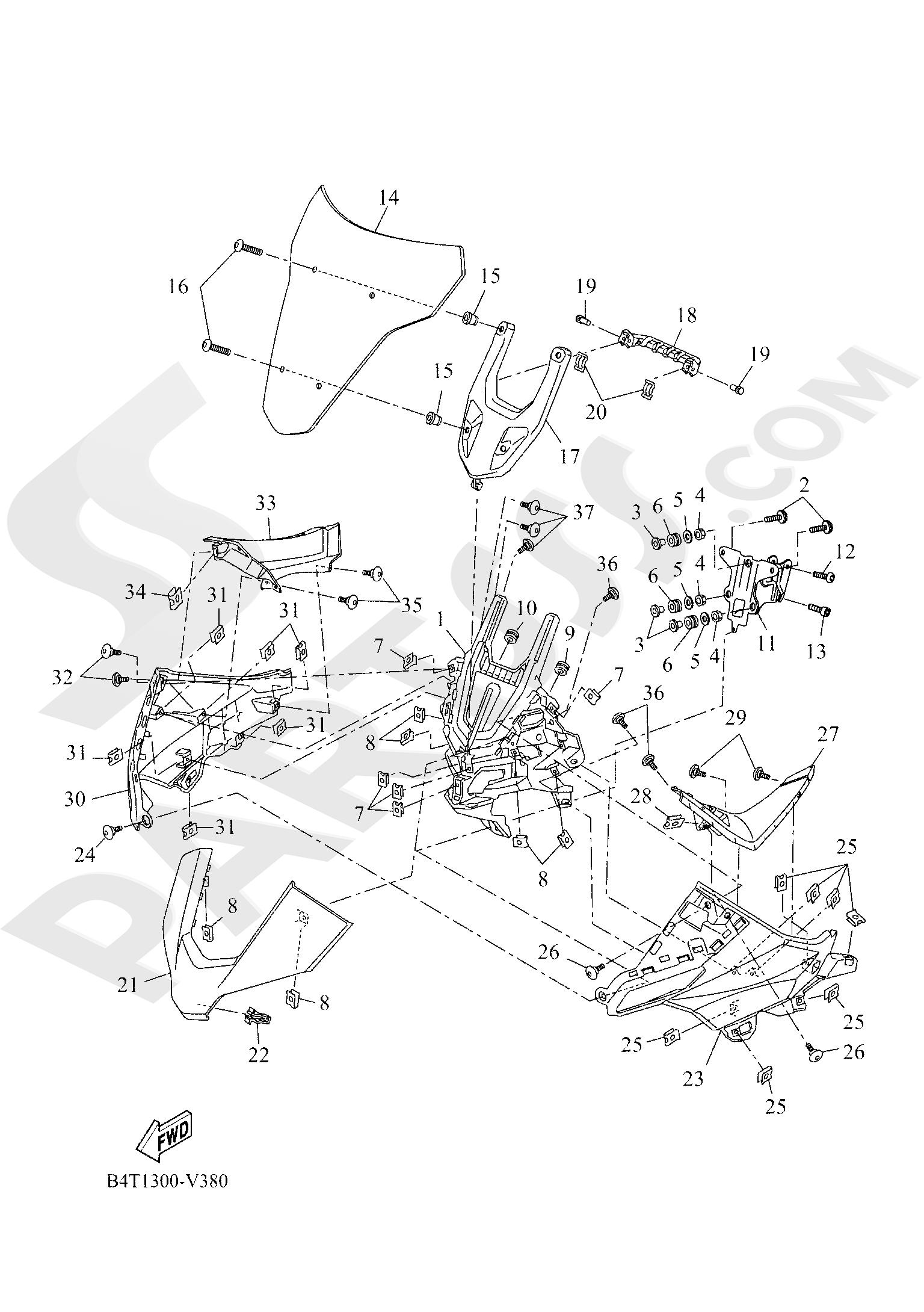 Yamaha TRACER 700 2020 COWLING 1