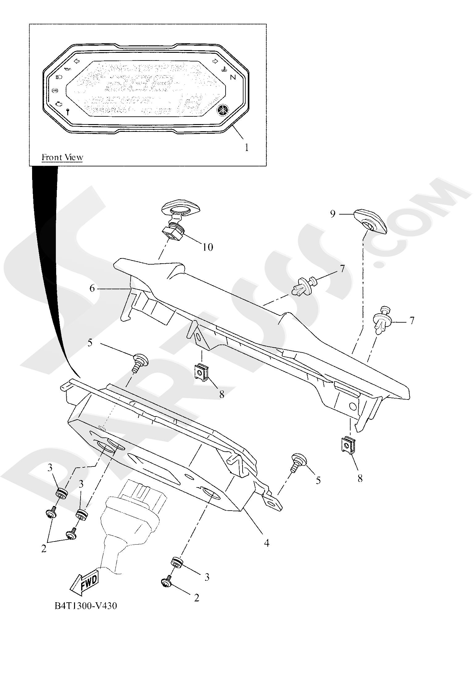 Yamaha TRACER 700 2020 METER