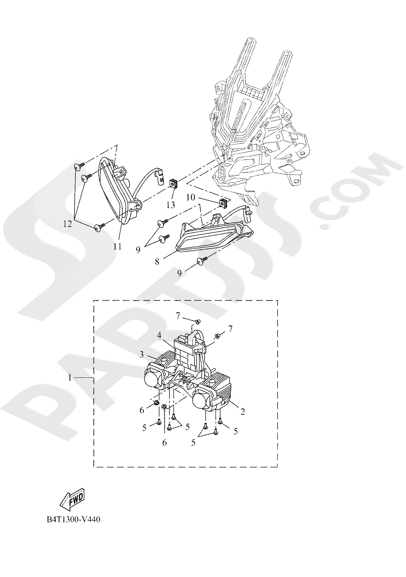 Yamaha TRACER 700 2020 HEADLIGHT