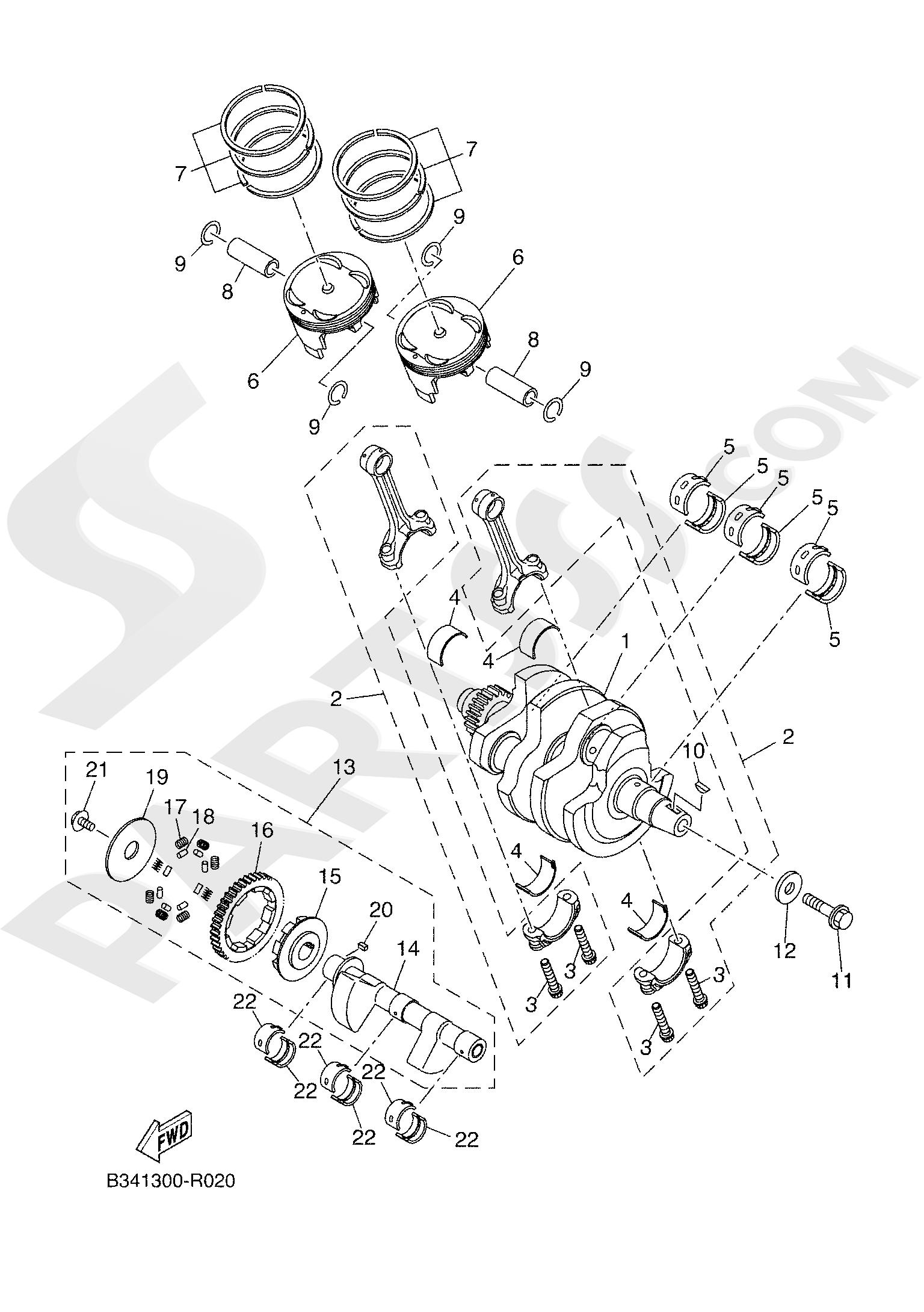 Yamaha TRACER 700 2020 CRANKSHAFT & PISTON