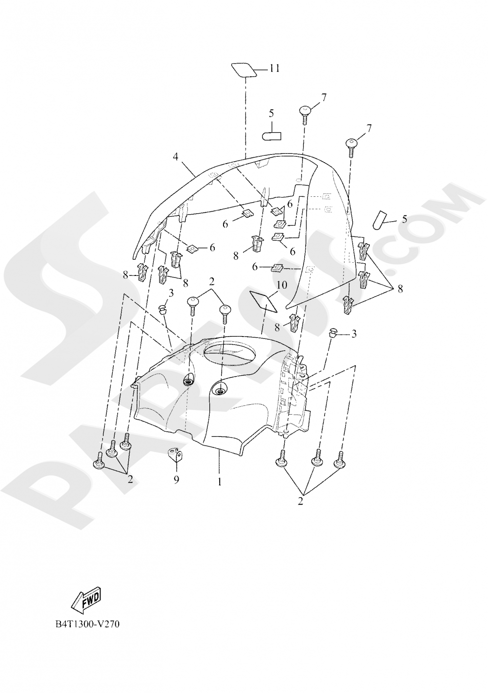 FUEL TANK 2 Yamaha TRACER 700 2020