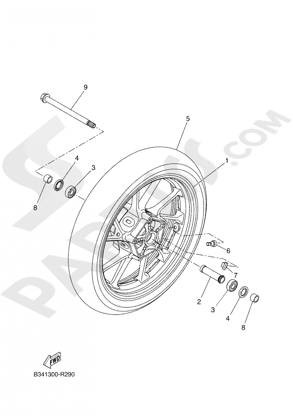 FRONT WHEEL Yamaha TRACER 700 2020