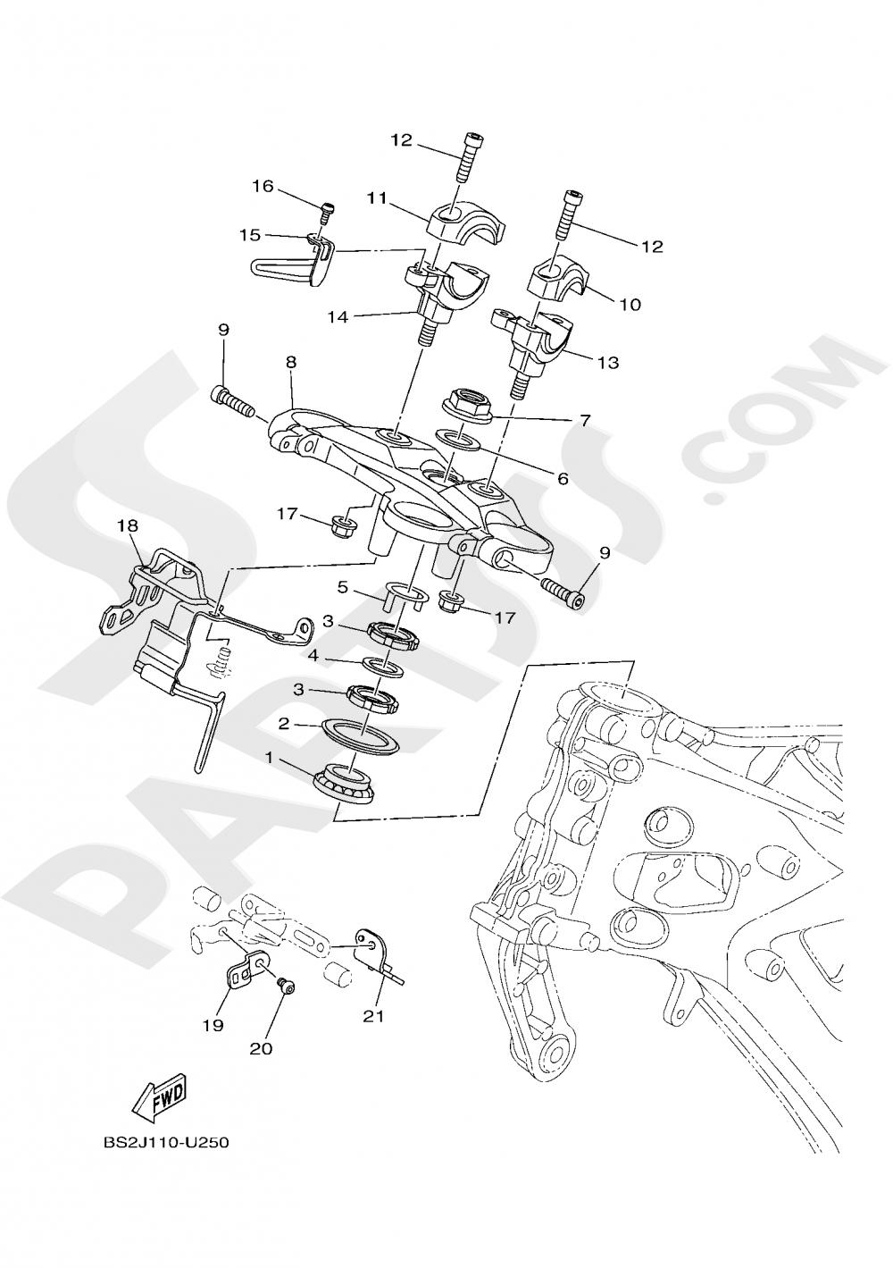 STEERING Yamaha MT-09 ABS 2020
