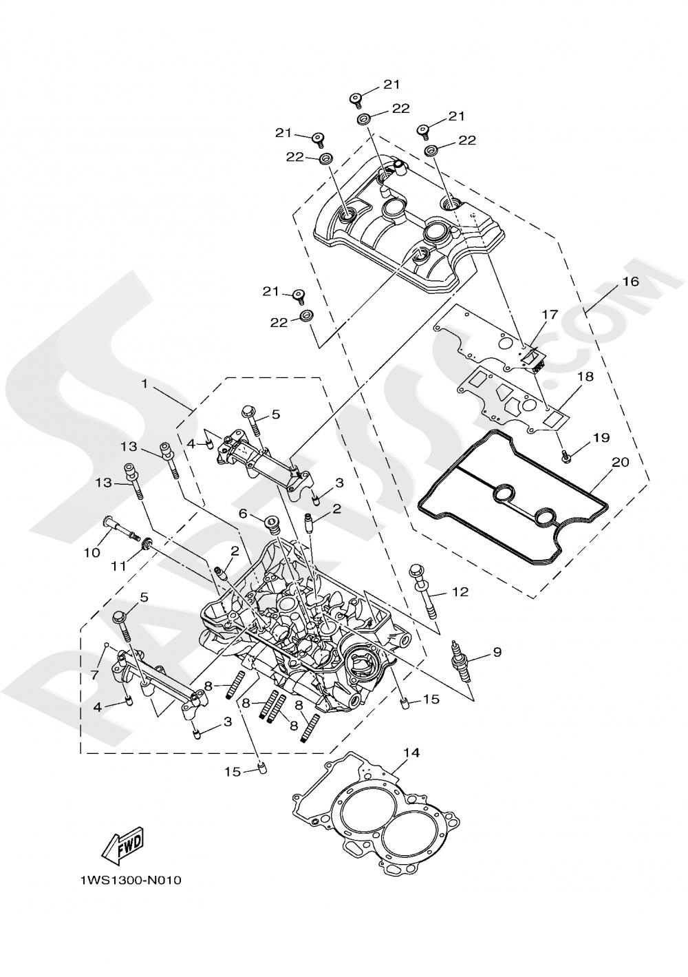 CYLINDER HEAD Yamaha MT-07 ABS 2020