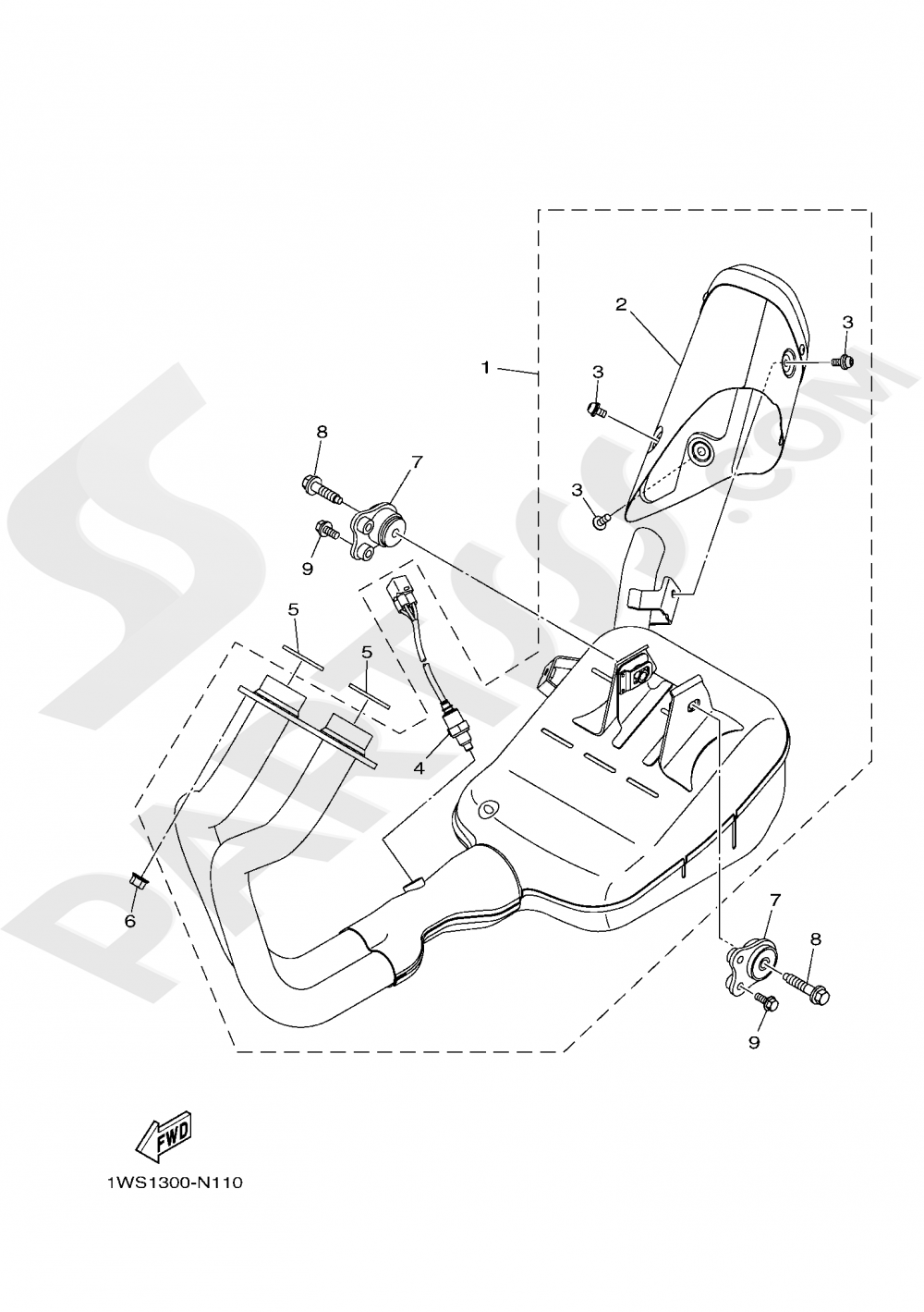 EXHAUST Yamaha MT-07 ABS 2019