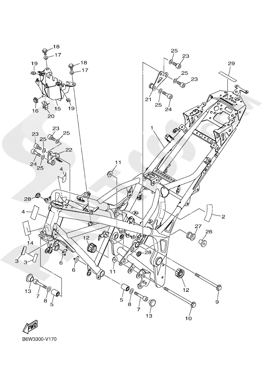 FRAME Yamaha MT-03 ABS 300CC. 2020