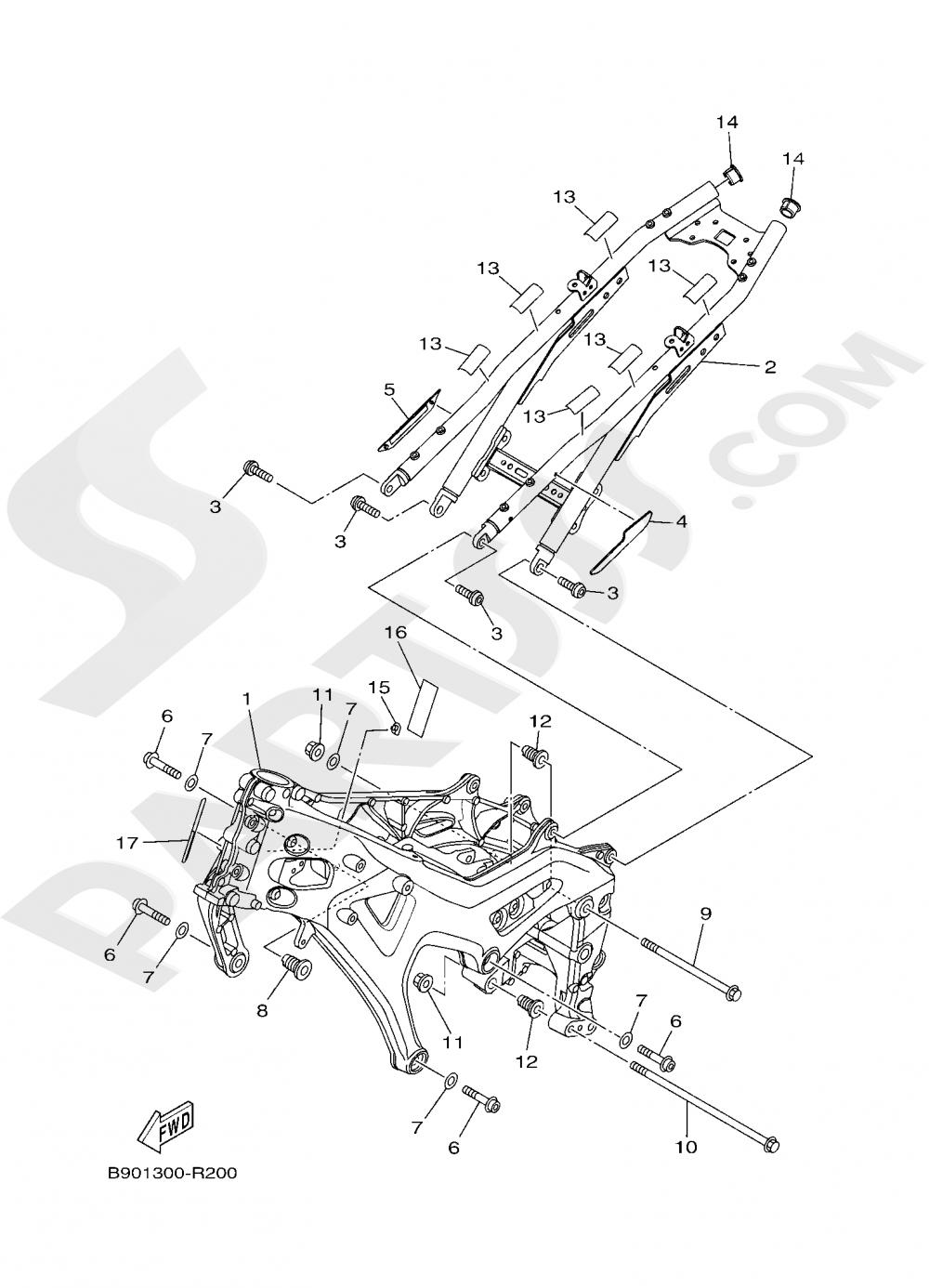 FRAME Yamaha XSR900 2020