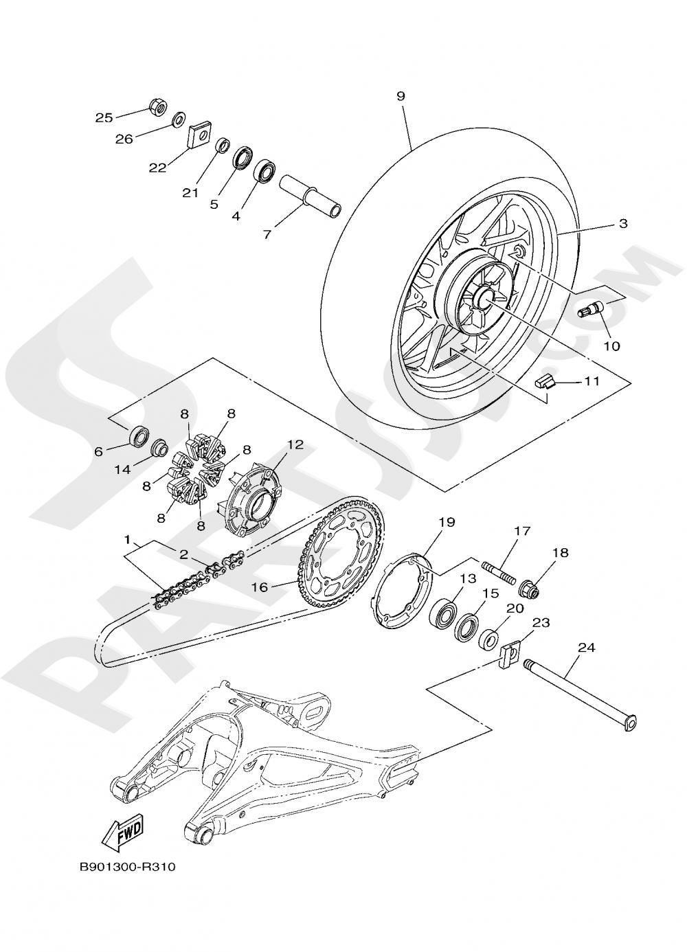 REAR WHEEL Yamaha XSR900 2019