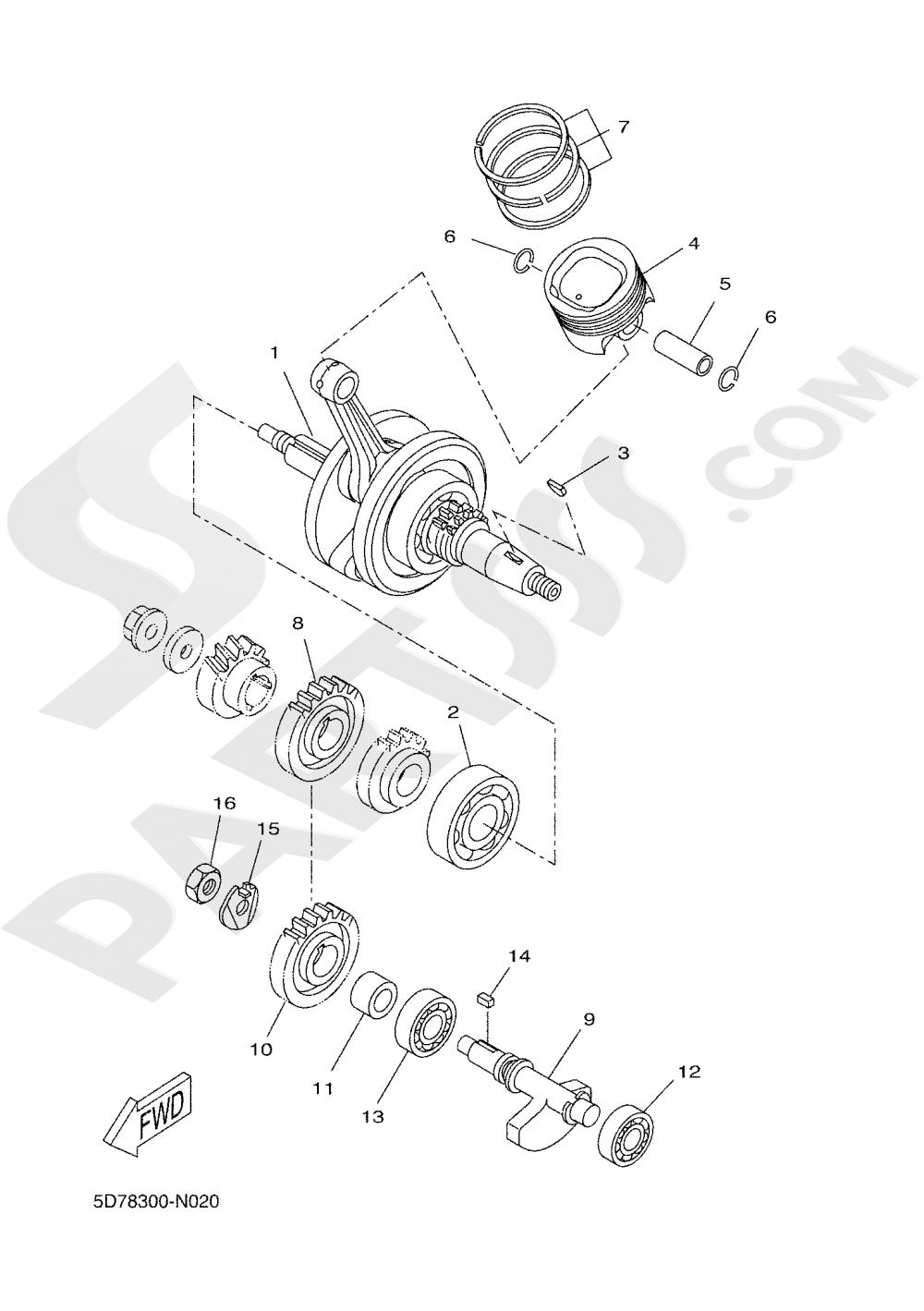 CRANKSHAFT & PISTON Yamaha MT-125 ABS 2020
