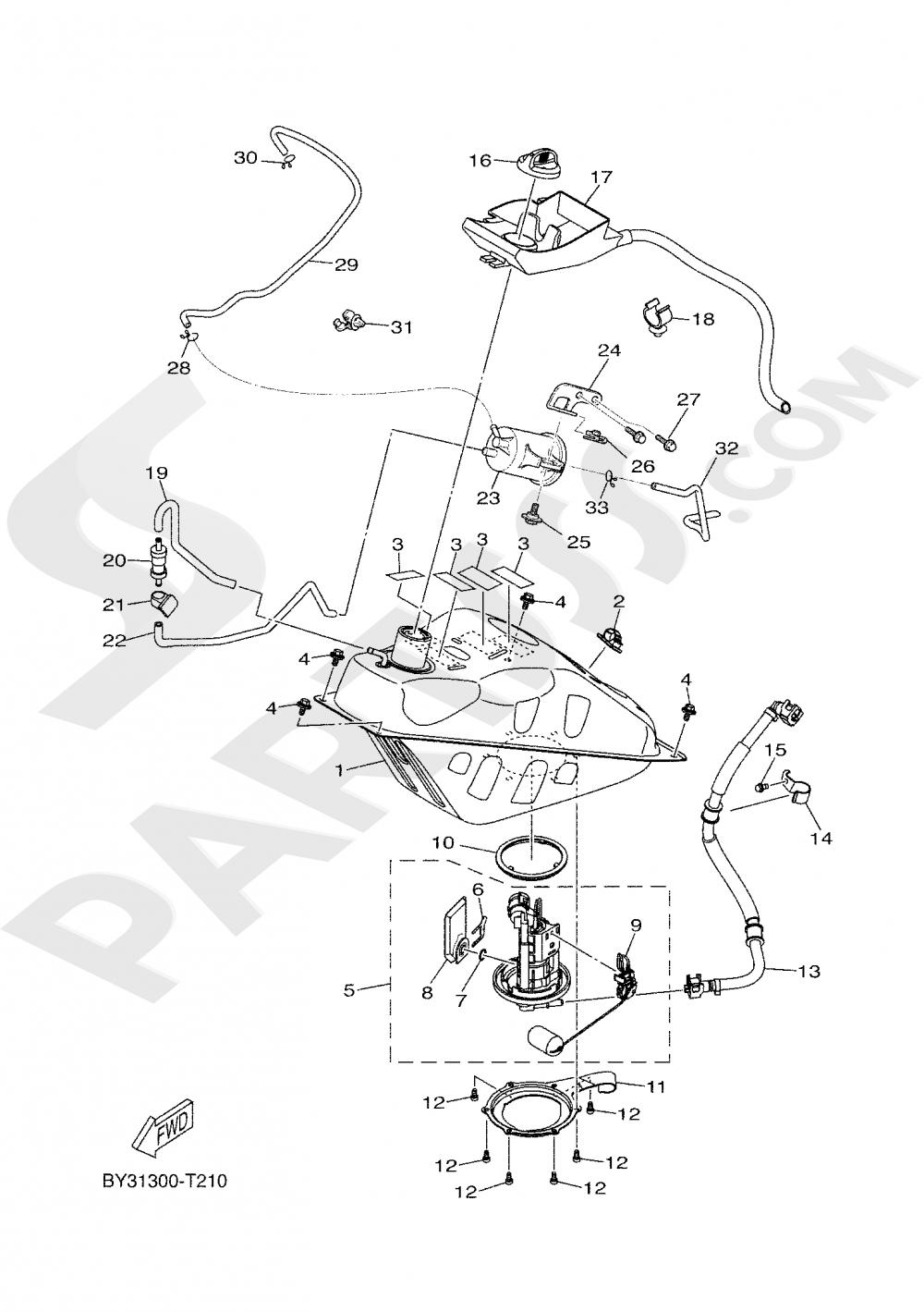 FUEL TANK Yamaha X-MAX 300 2019
