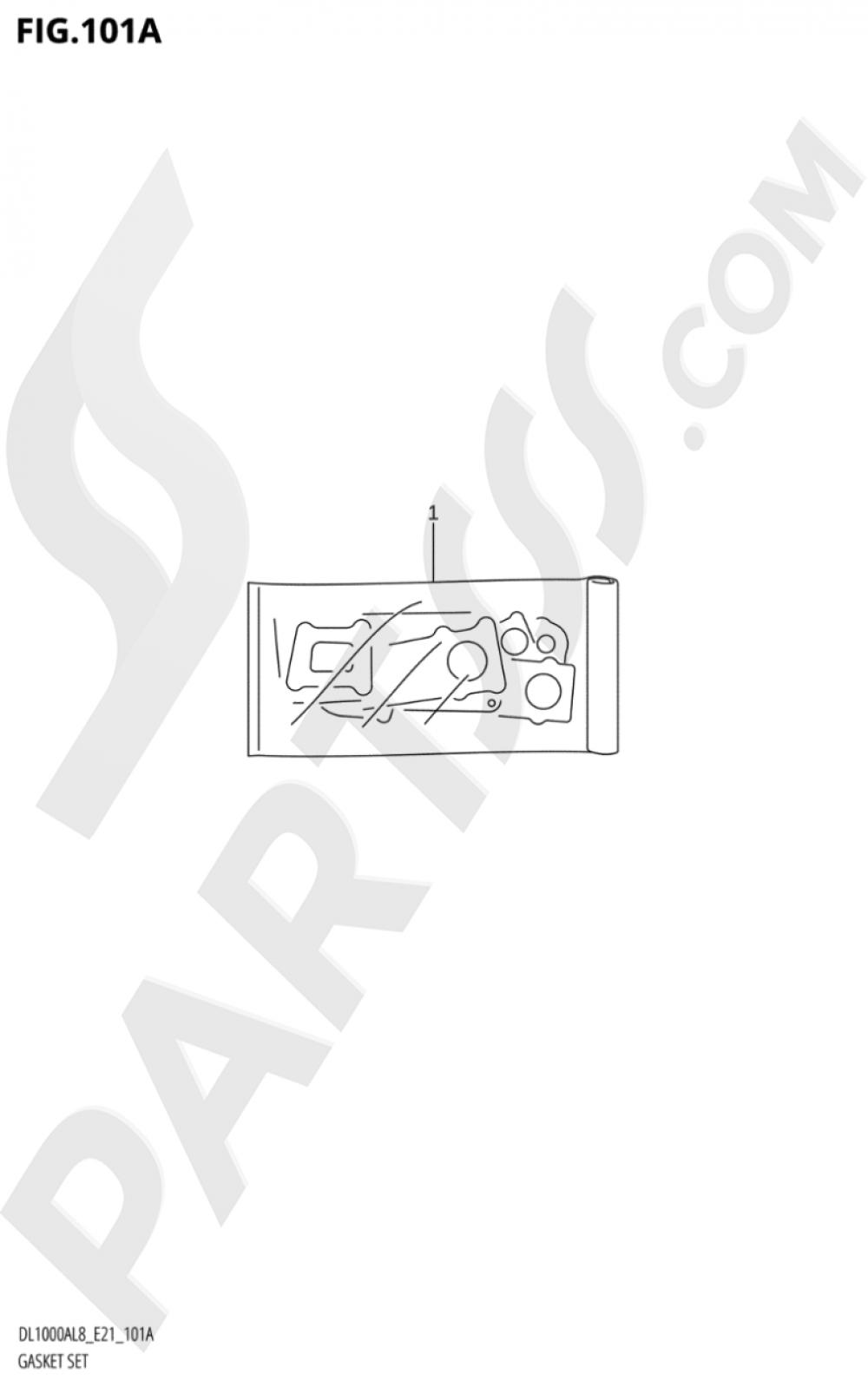 101A - GASKET SET Suzuki VSTROM DL1000A 2018