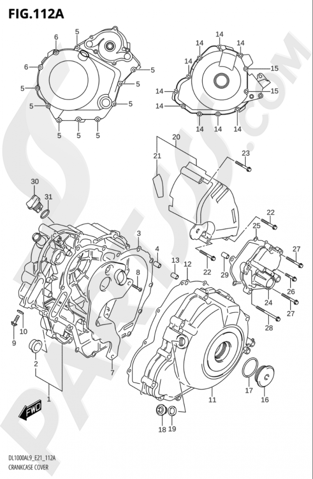 112A - CRANKCASE COVER Suzuki VSTROM DL1000A 2019