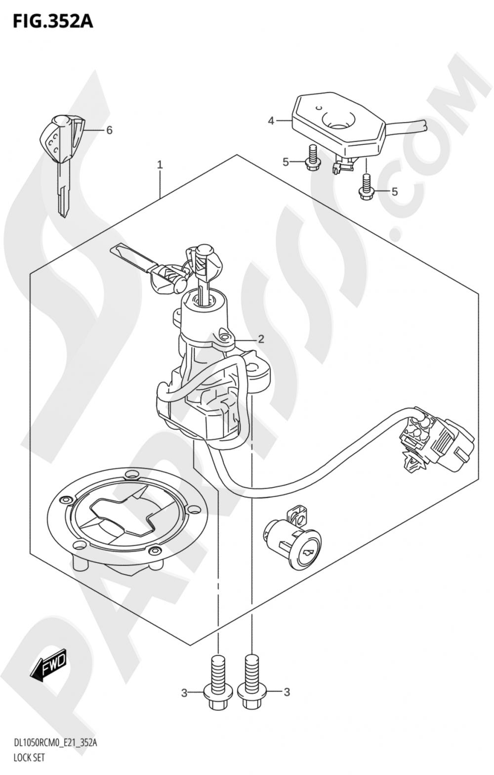 352A - LOCK SET Suzuki VSTROM DL1050RC 2020