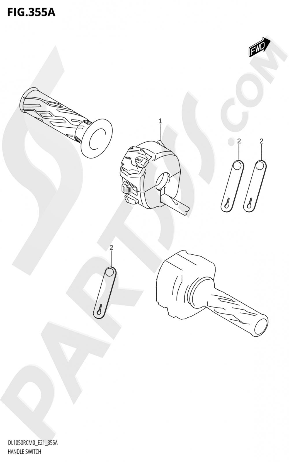 355A - HANDLE SWITCH (DL1050RC) Suzuki VSTROM DL1050RQ 2020