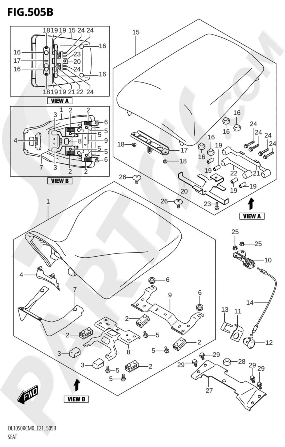 505B - SEAT (DL1050RC) Suzuki VSTROM DL1050RQ 2020