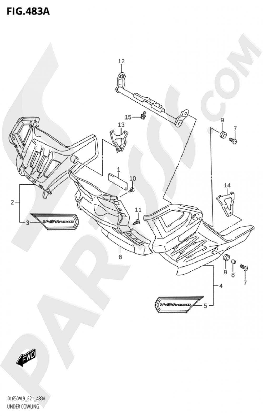 483A - UNDER COWLING (DL650XA,DL650XAUE) Suzuki VSTROM DL650A 2019