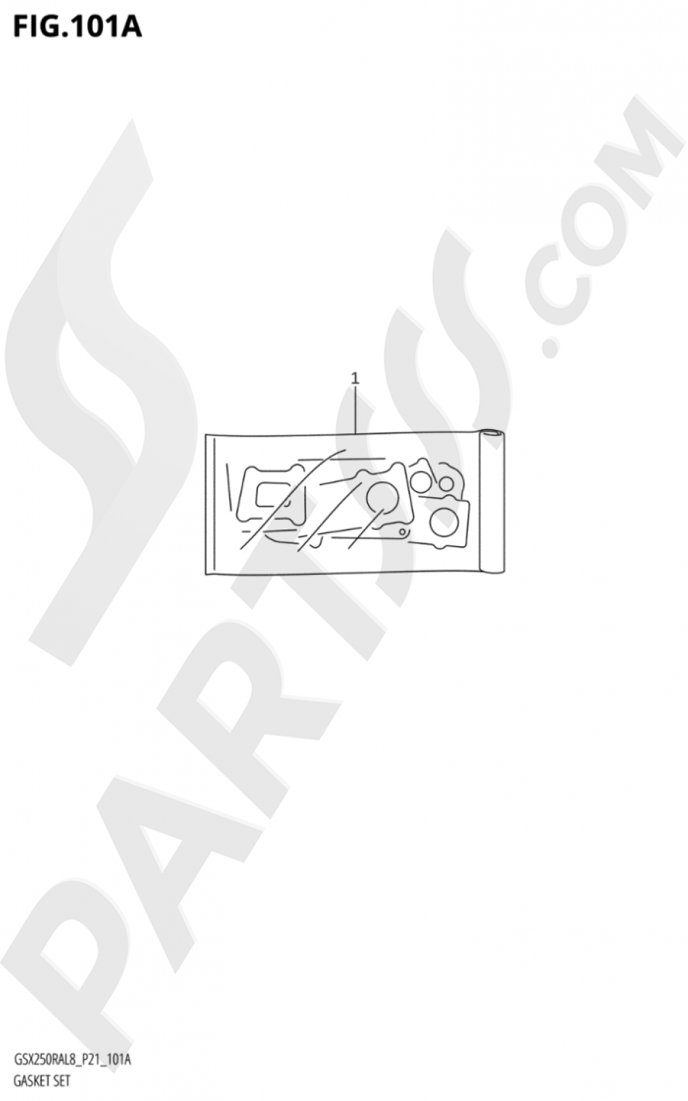 101A - GASKET SET Suzuki GSX250RA 2018