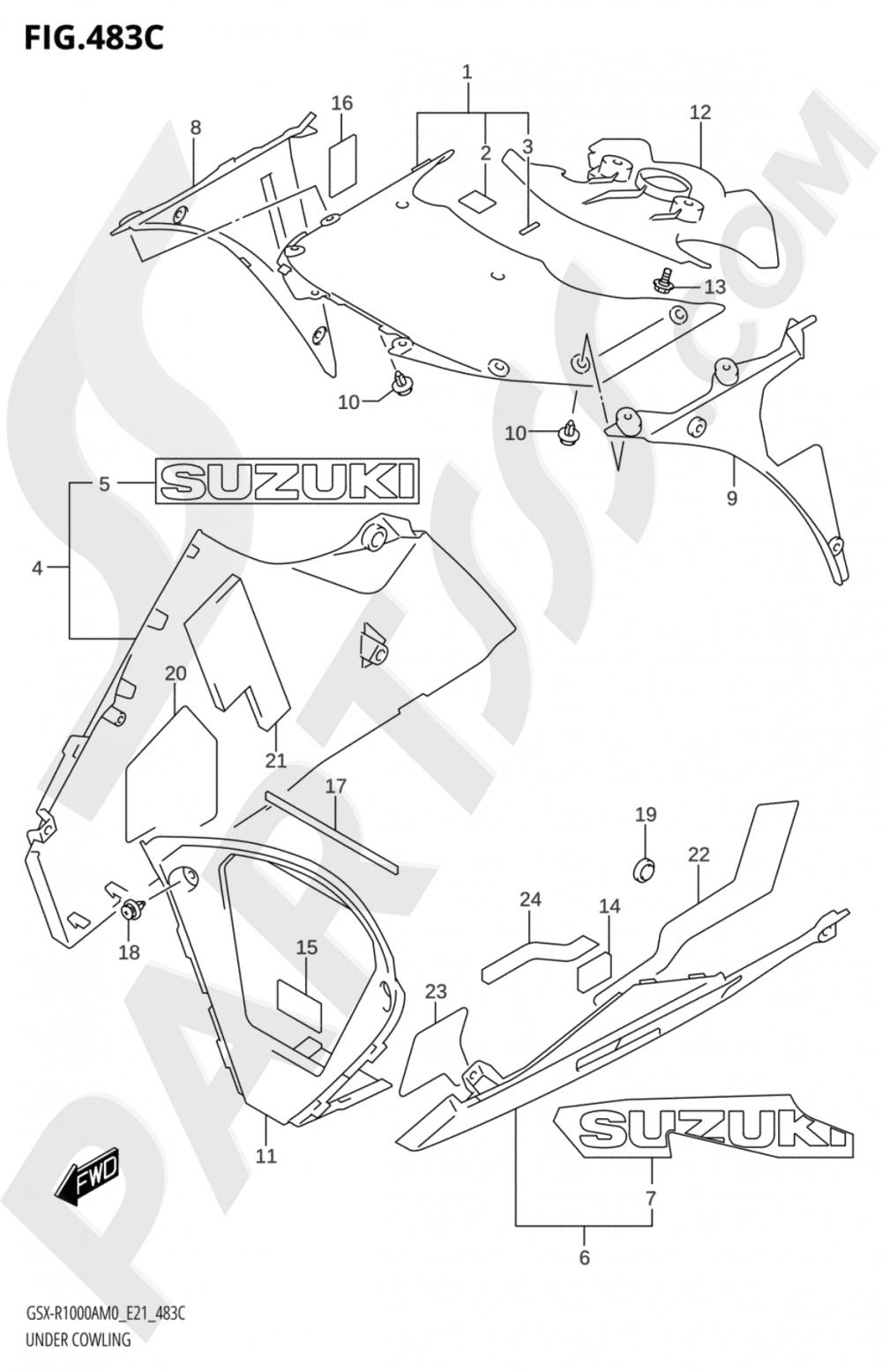 483C - UNDER COWLING (GSX-R1000RA) Suzuki GSX-R1000A 2020
