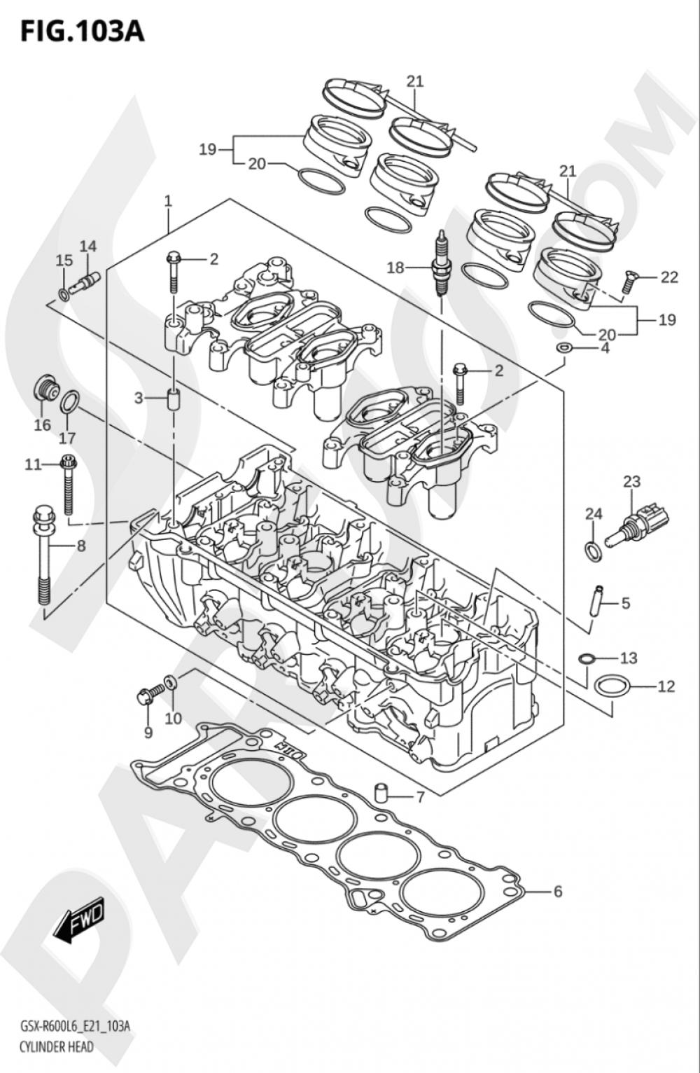 103A - CYLINDER HEAD Suzuki GSX-R600 2016
