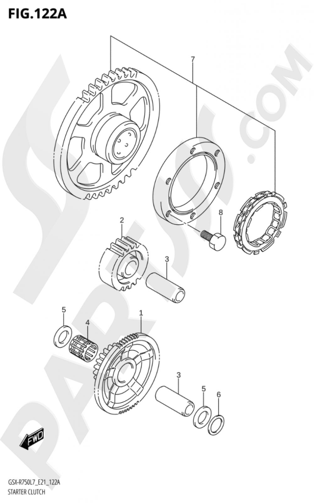 122A - STARTER CLUTCH Suzuki GSX-R750 2017