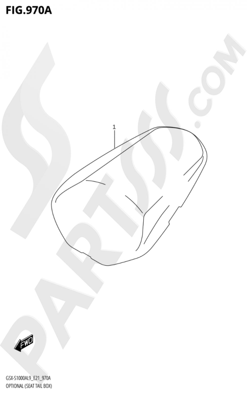 970A - OPTIONAL (SEAT TAIL BOX) Suzuki GSX-S1000A 2019