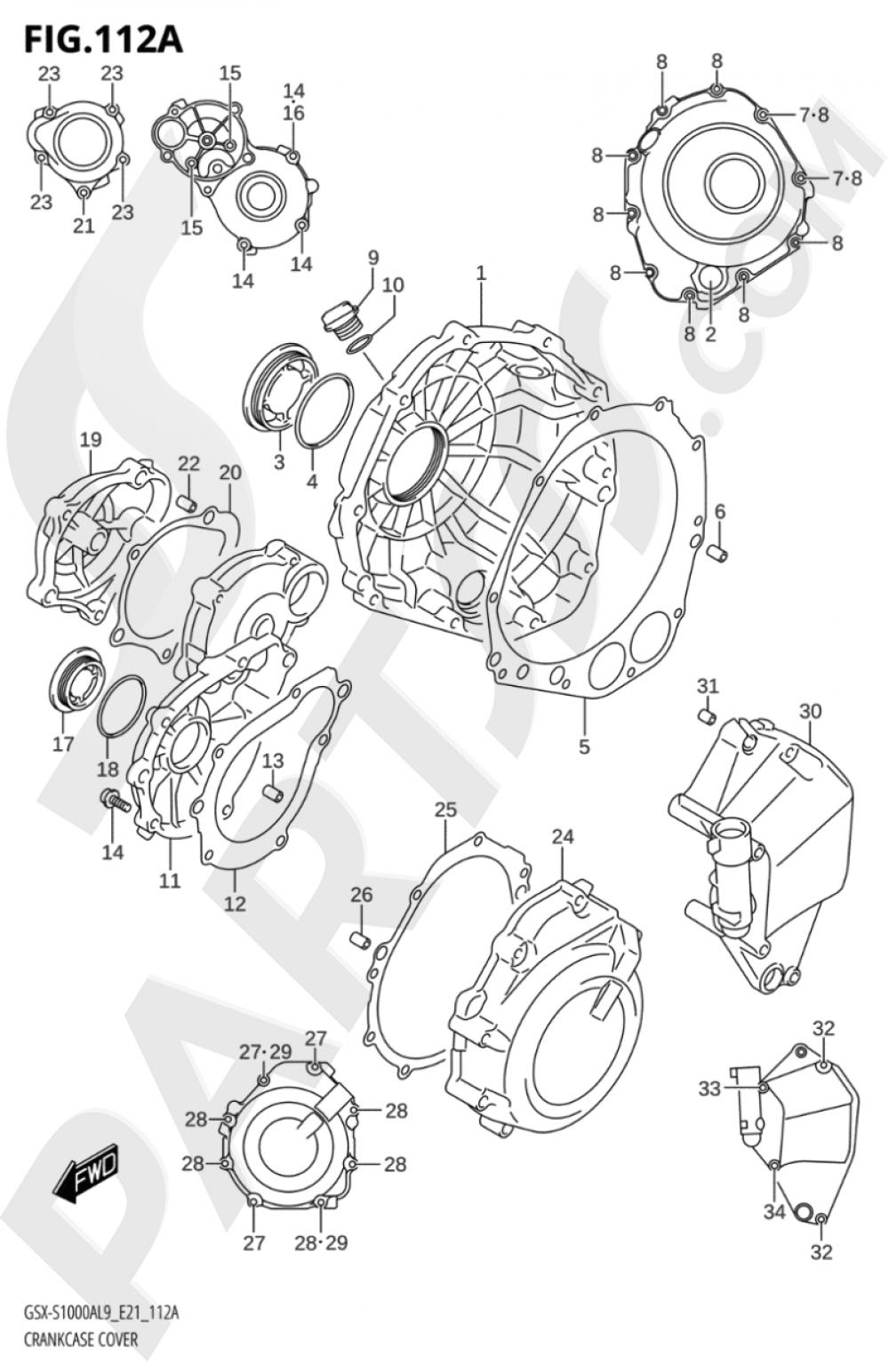 112A - CRANKCASE COVER Suzuki GSX-S1000A 2019