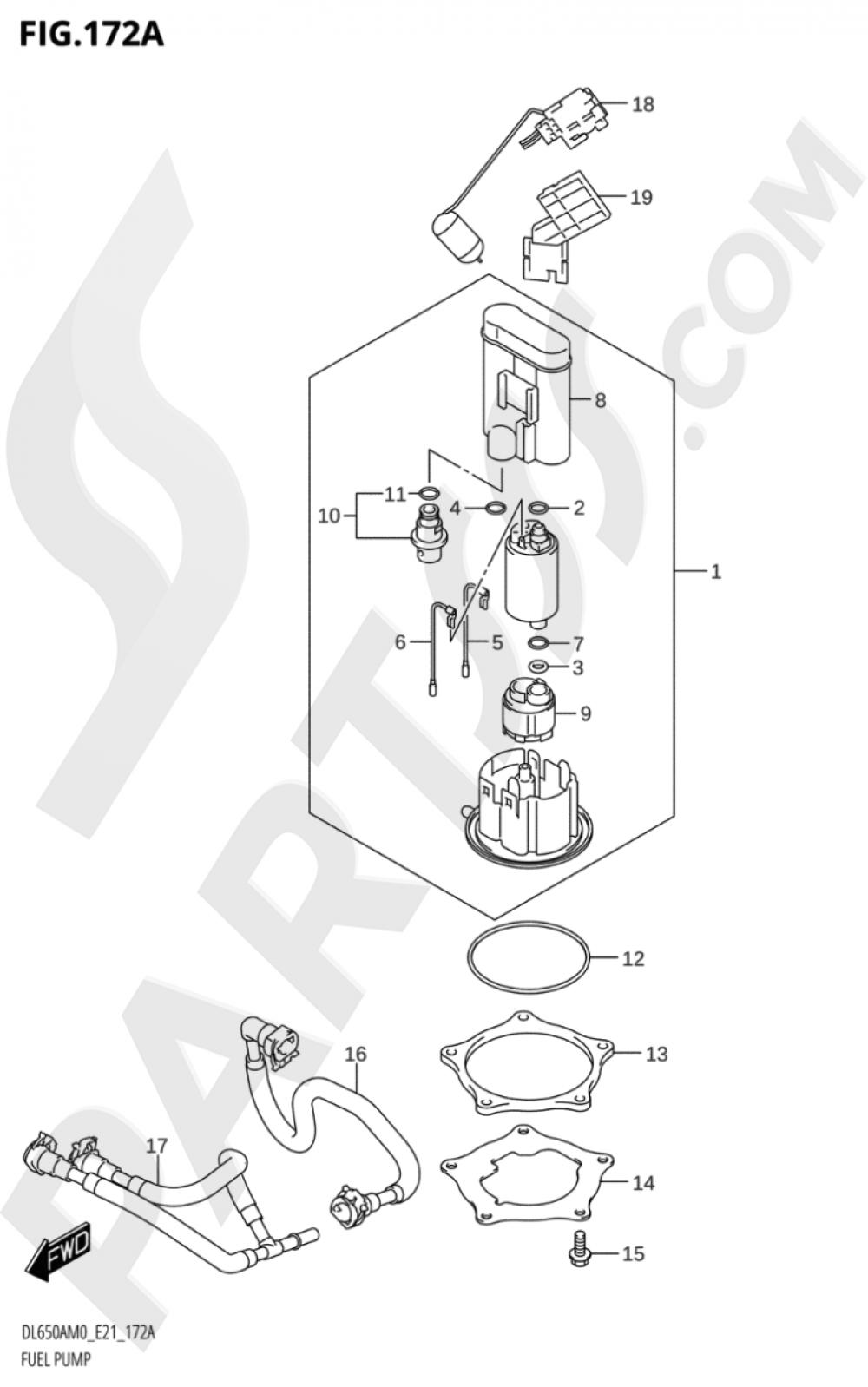 172A - FUEL PUMP Suzuki VSTROM DL650XA 2020