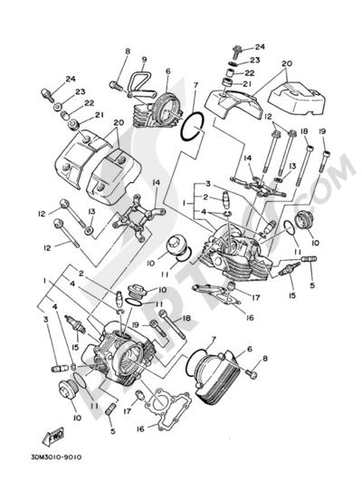 Yamaha VIRAGO XV250S 2004 CYLINDER HEAD