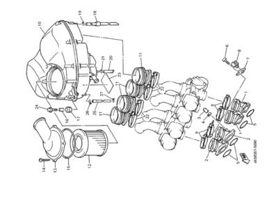 Yamaha XJ900S DIVERSION 2000 INTAKE