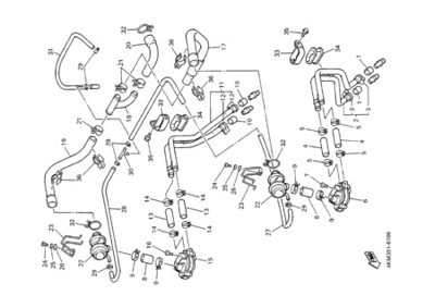 Yamaha XJ900S DIVERSION 2000 AIR INDUCTION SYSTEM