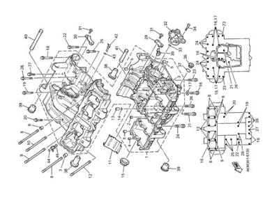 Yamaha XJ900S DIVERSION 2000 CRANKCASE
