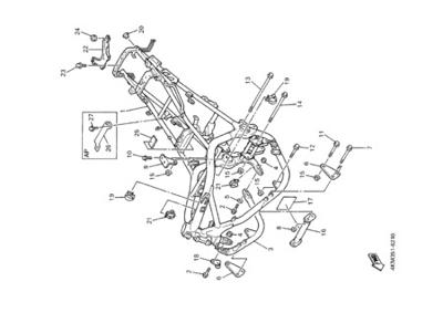 Yamaha XJ900S DIVERSION 2000 FRAME